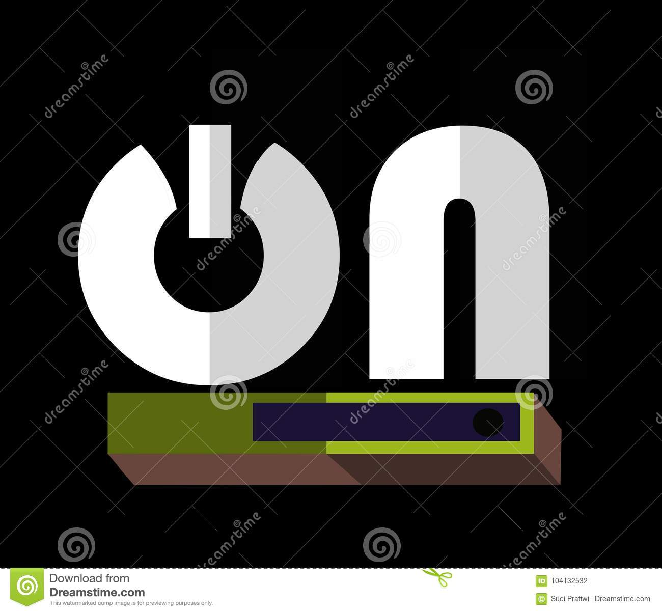 Symbols On Letter Or Text Icon Stock Illustration Illustration