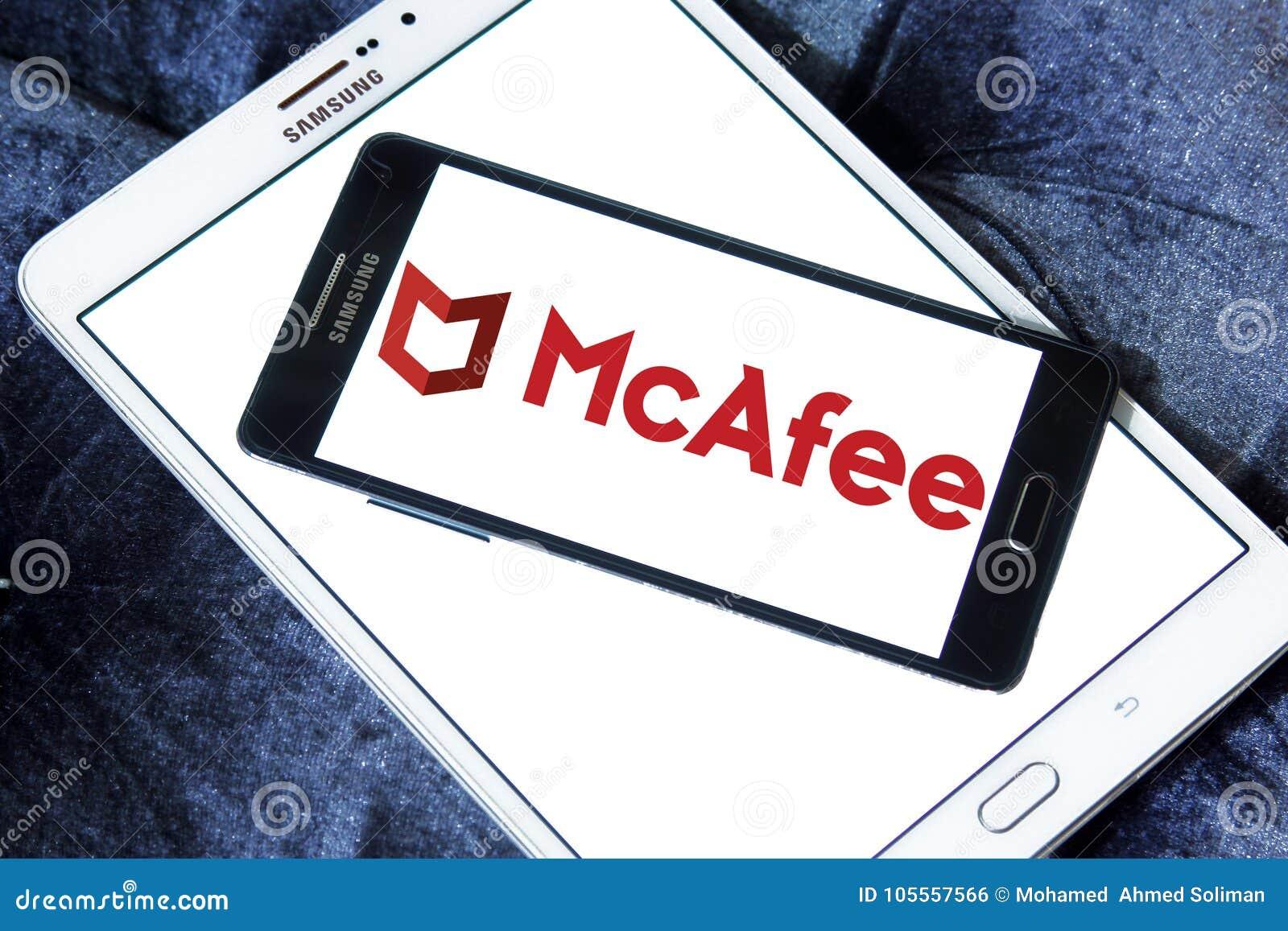 McAfee company logo editorial photo  Image of logos - 105557566