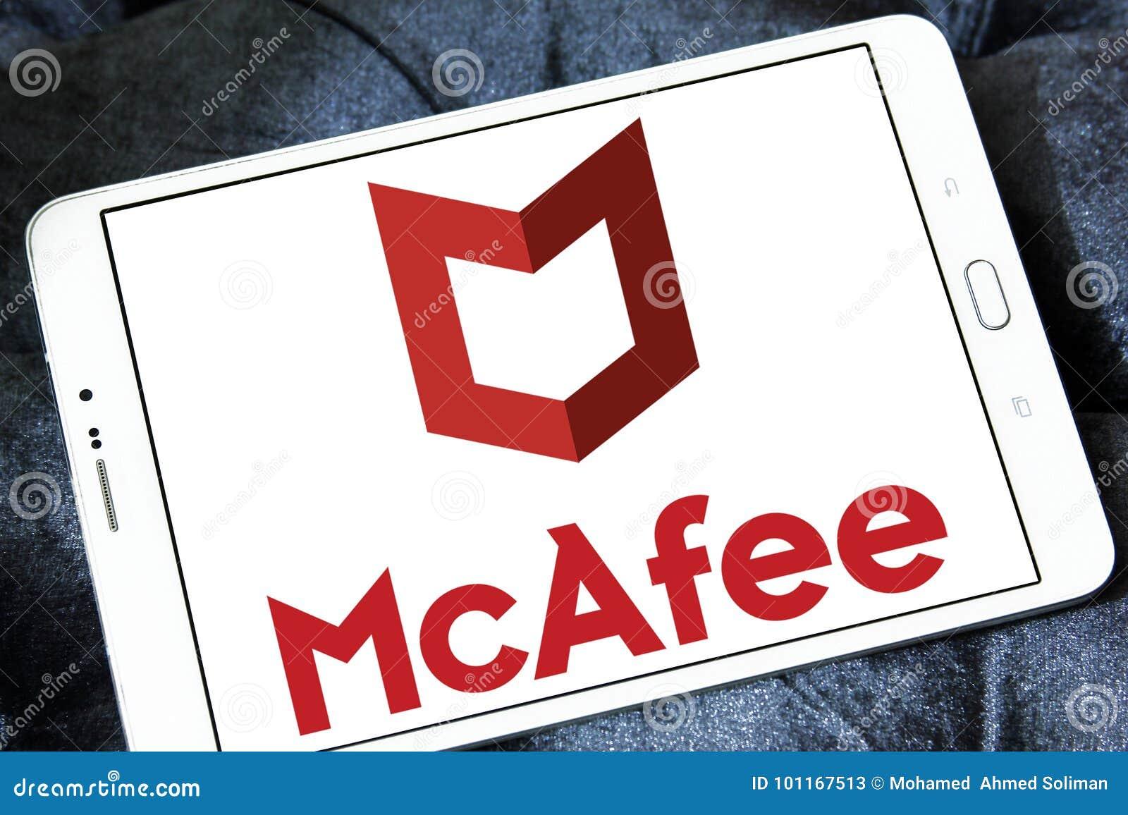 McAfee company logo editorial stock photo  Image of logos - 101167513