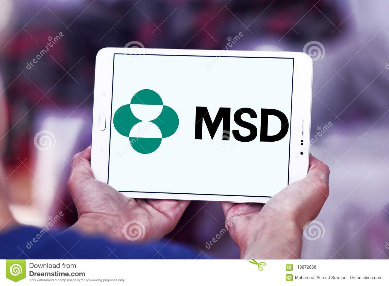 Merck Sharp Dohme Msd Company Logo Editorial Stock Photo Image