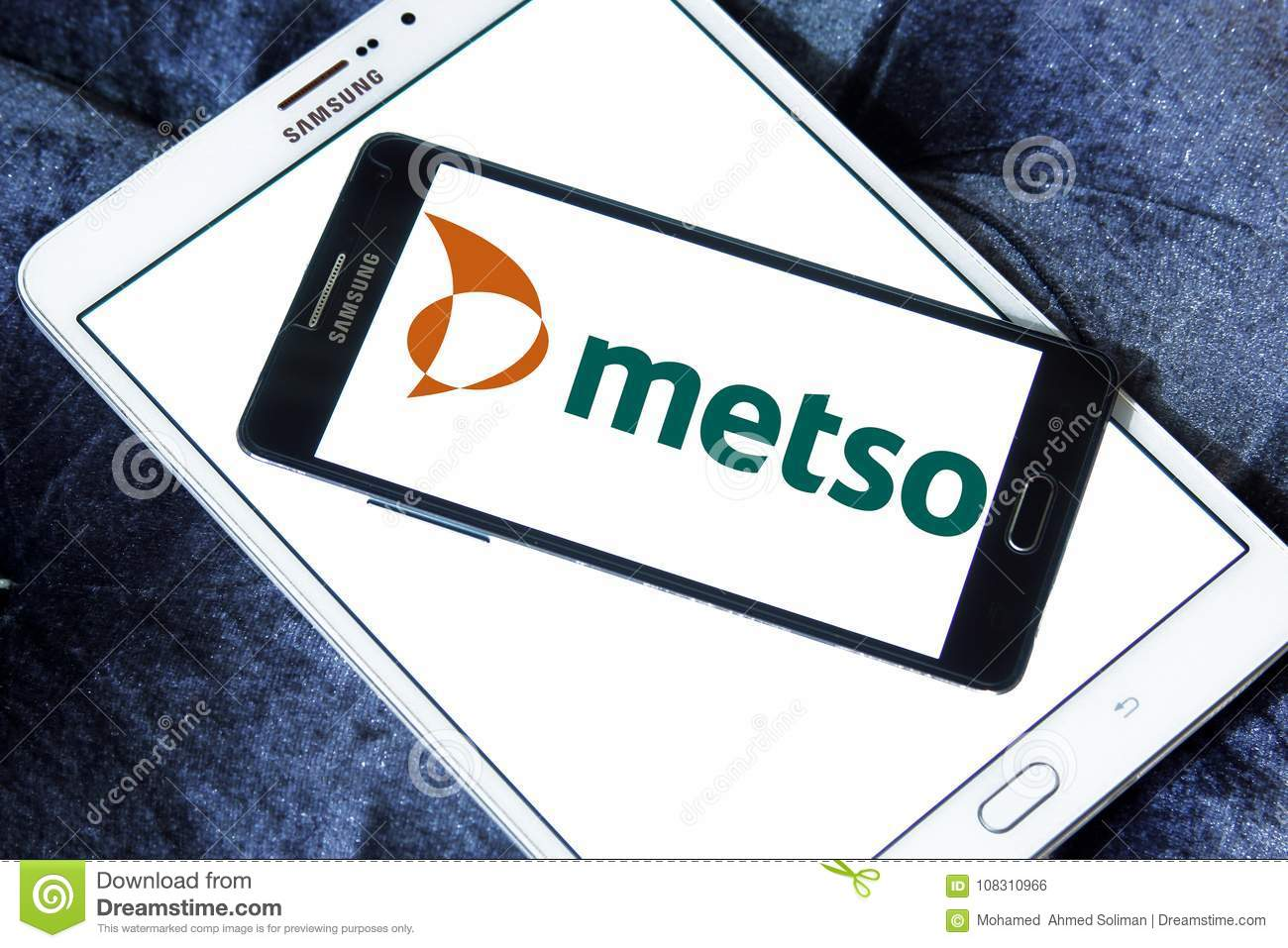 Metso Industrial Machinery Company Logo Editorial Photo