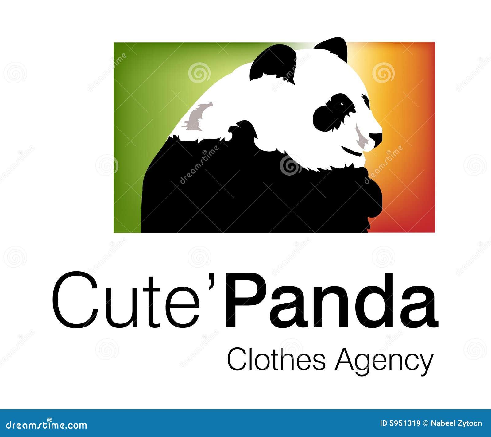 Logo mignon de panda