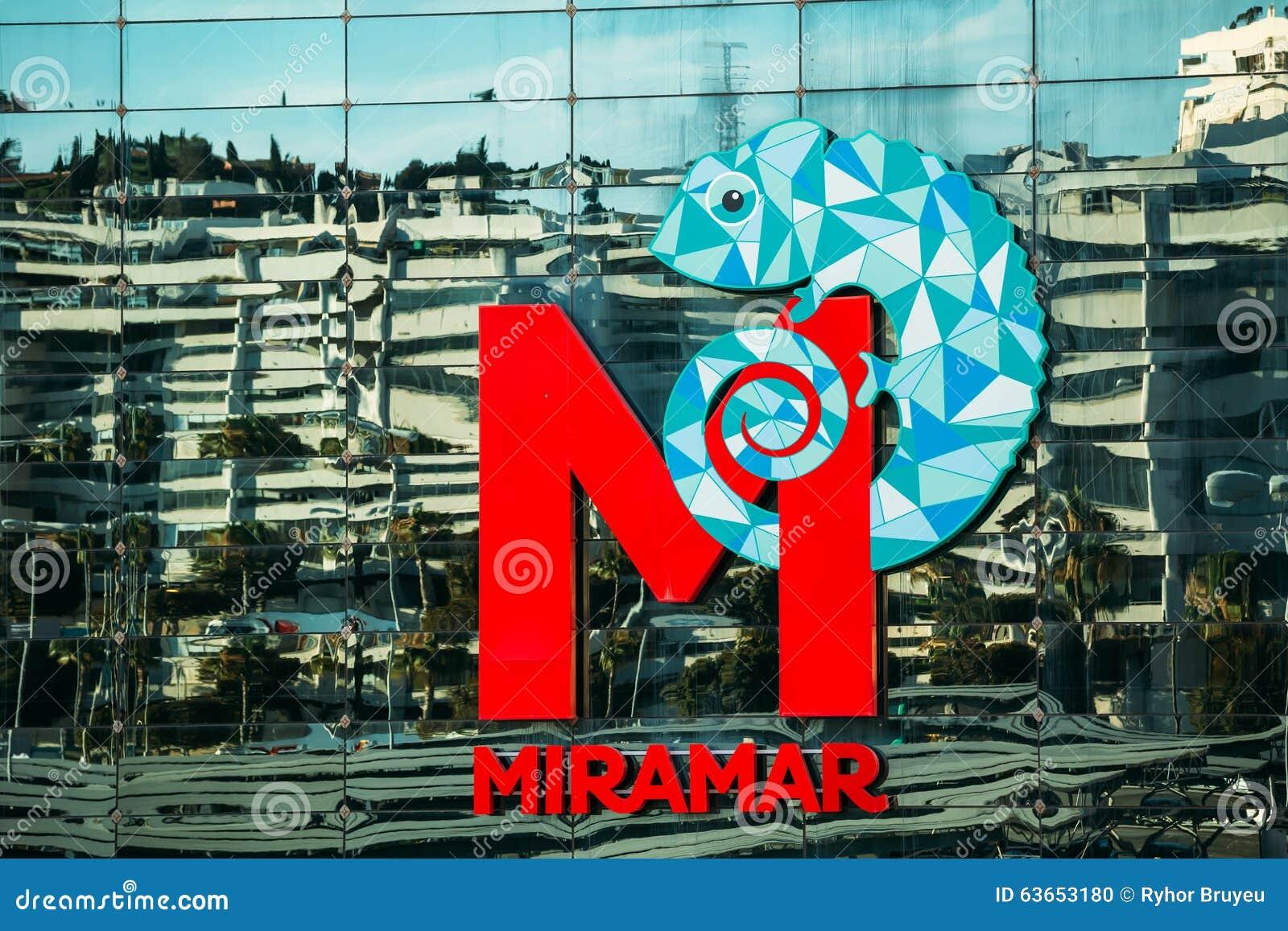 logo miramar centrum handlowe w fuengirola obraz editorial
