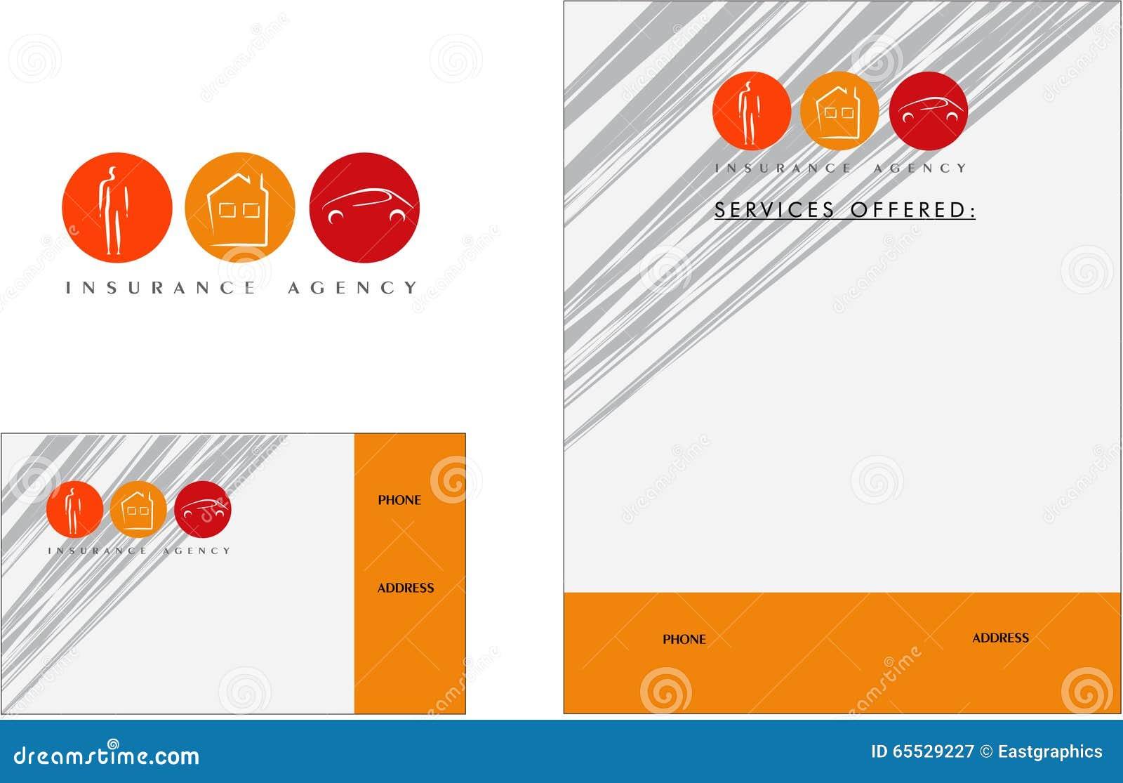 Logo Moderne D Assurance Carte De Visite Professionnelle Insecte