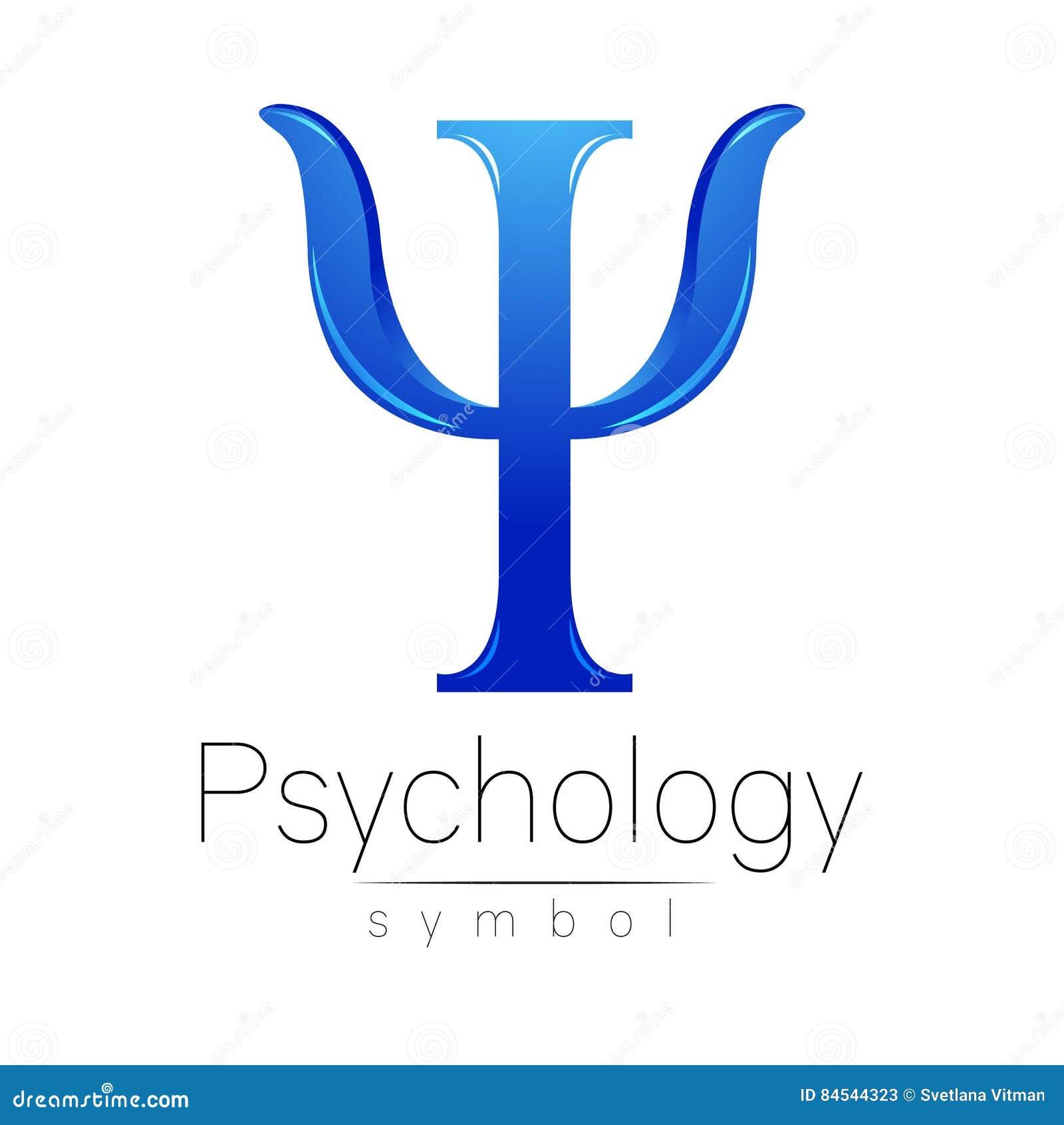 Logo moderne de la psychologie psi Type créateur Logotype dans le vecteur Concept de construction Société de marque Lettre bleue