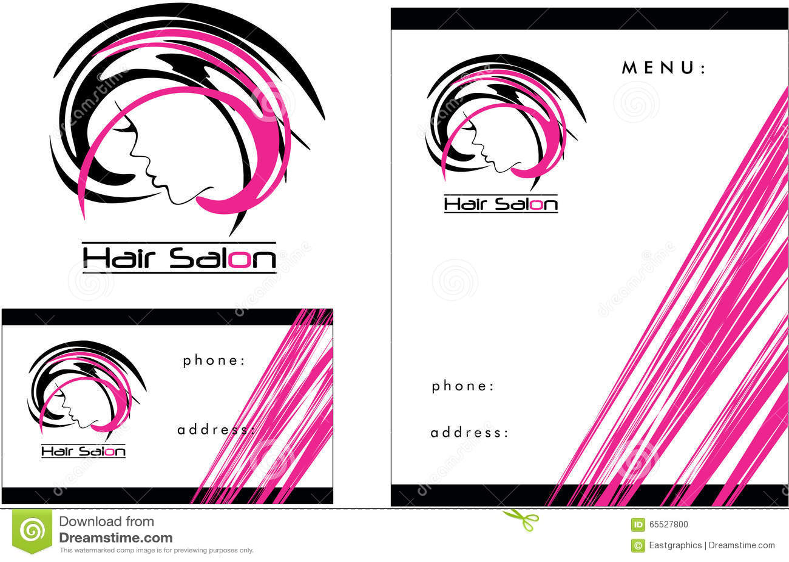Logo Moderne De Salon De Coiffure Carte De Visite