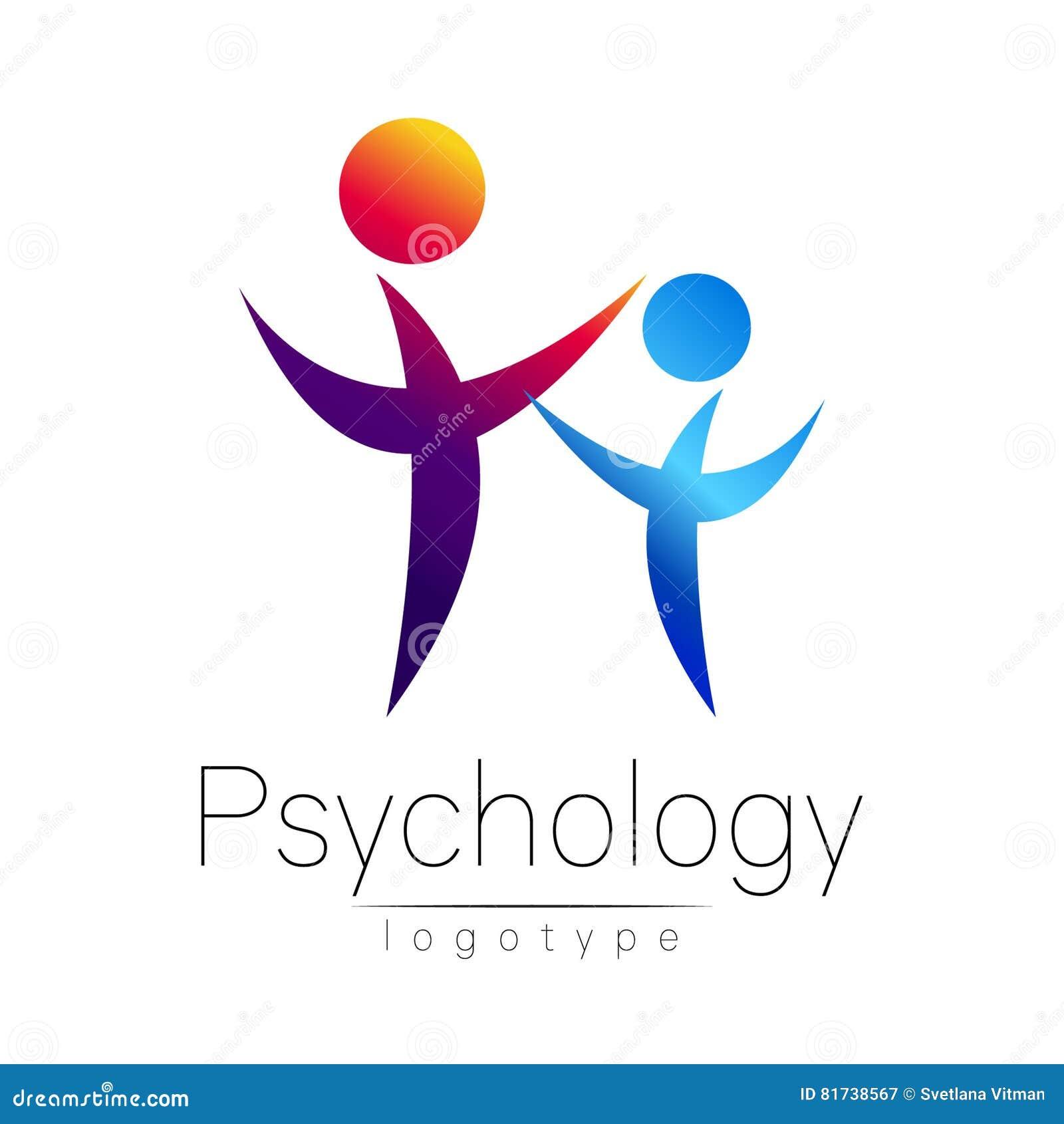 Logo moderno di PSI della gente di psicologia Essere umano della famiglia Stile creativo Logotype nel vettore Concetto di progett