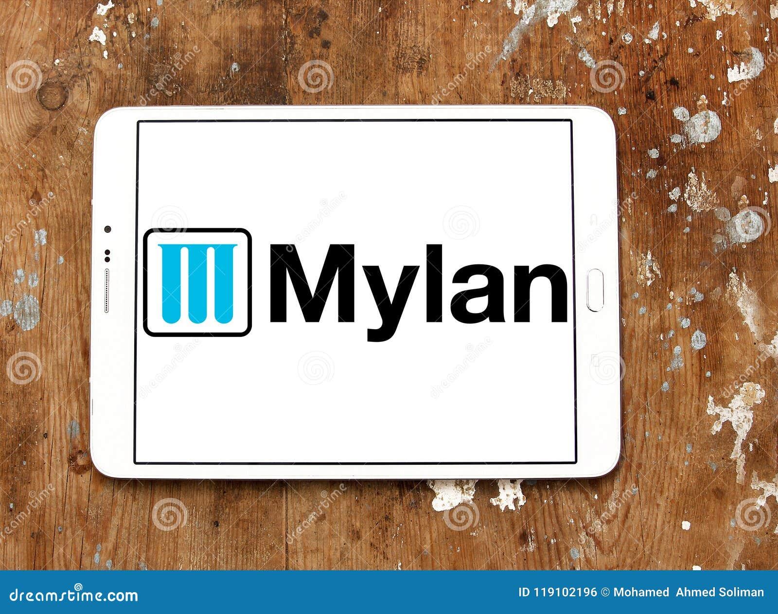 Mylan Pharmaceuticals Company Logo Editorial Photo - Image of