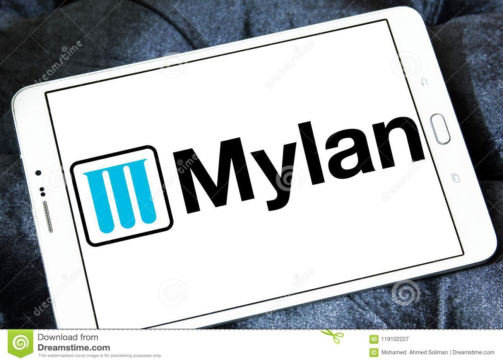 Mylan Pharmaceuticals Company Logo Editorial Photography - Image of
