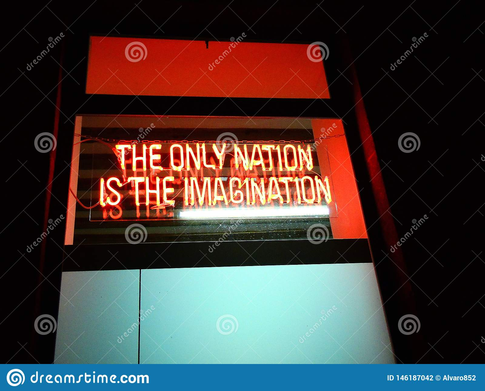 Logo: The only nation is the imagination