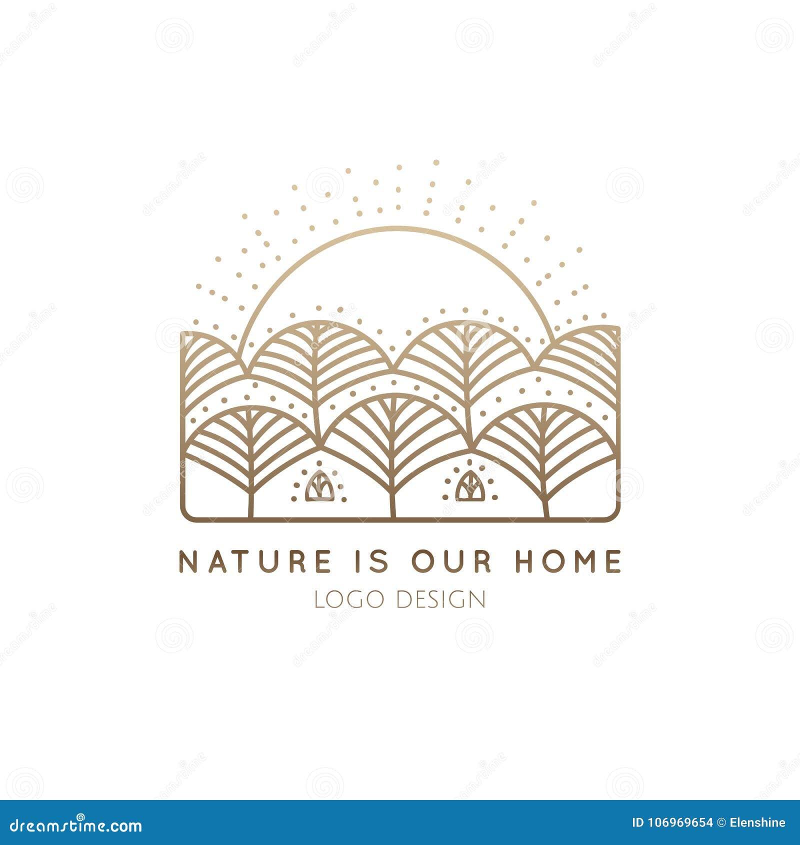 Logo natury dom