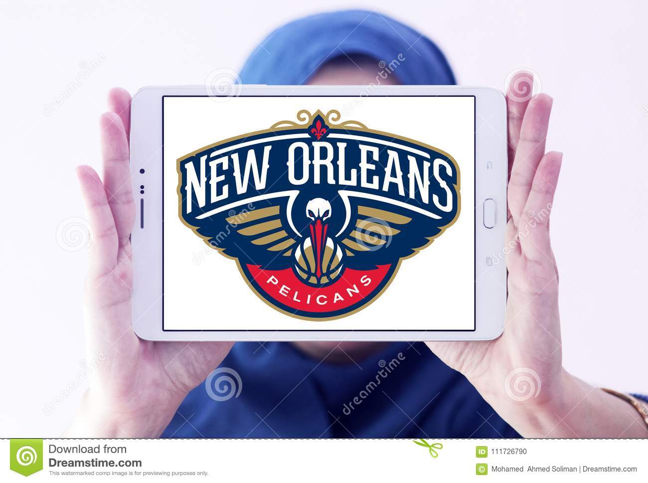 New Orleans Pelicans American Basketball Team Logo Editorial