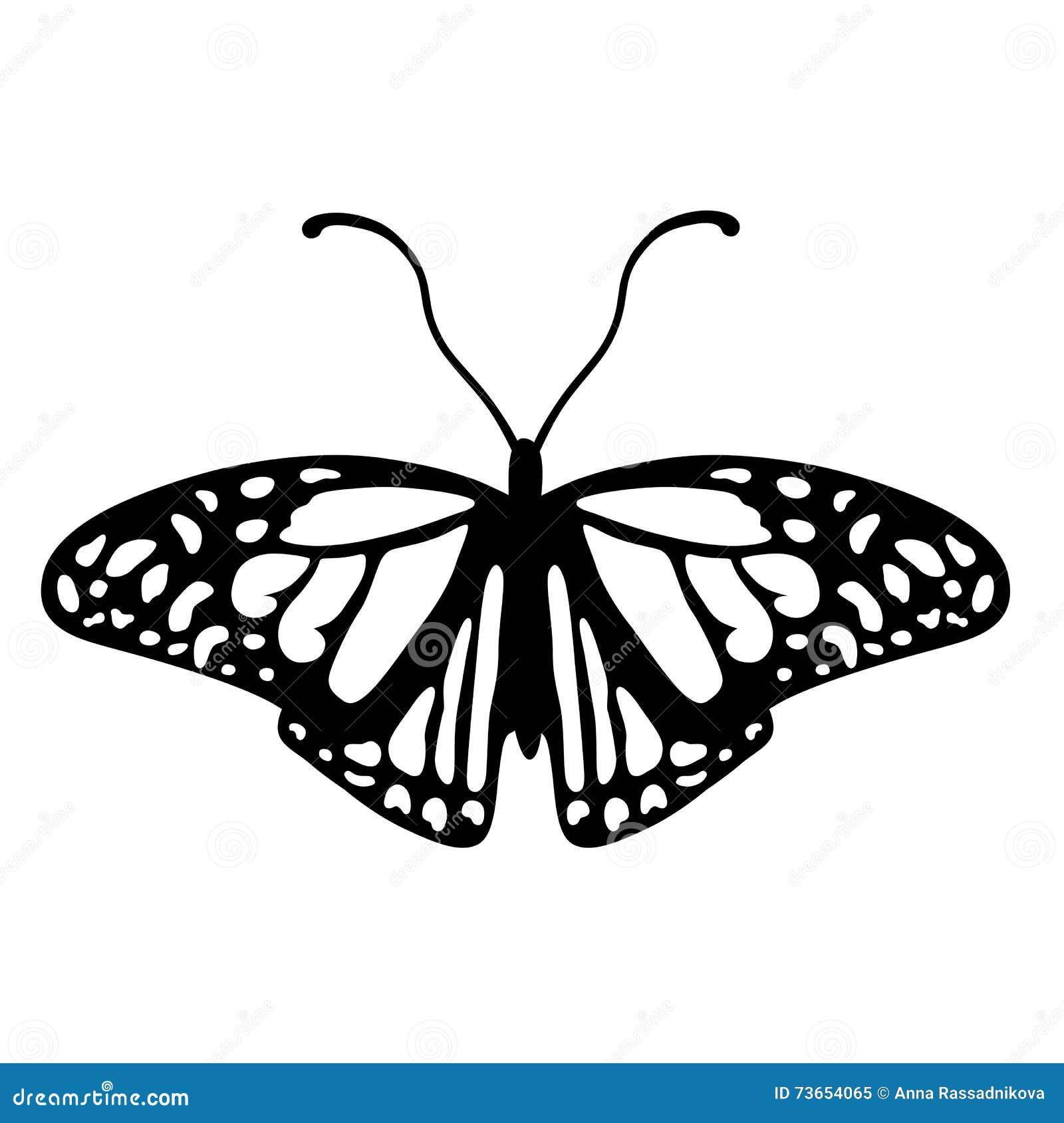 logo noir et blanc de papillon illustration de vecteur illustration du silhouette insecte. Black Bedroom Furniture Sets. Home Design Ideas