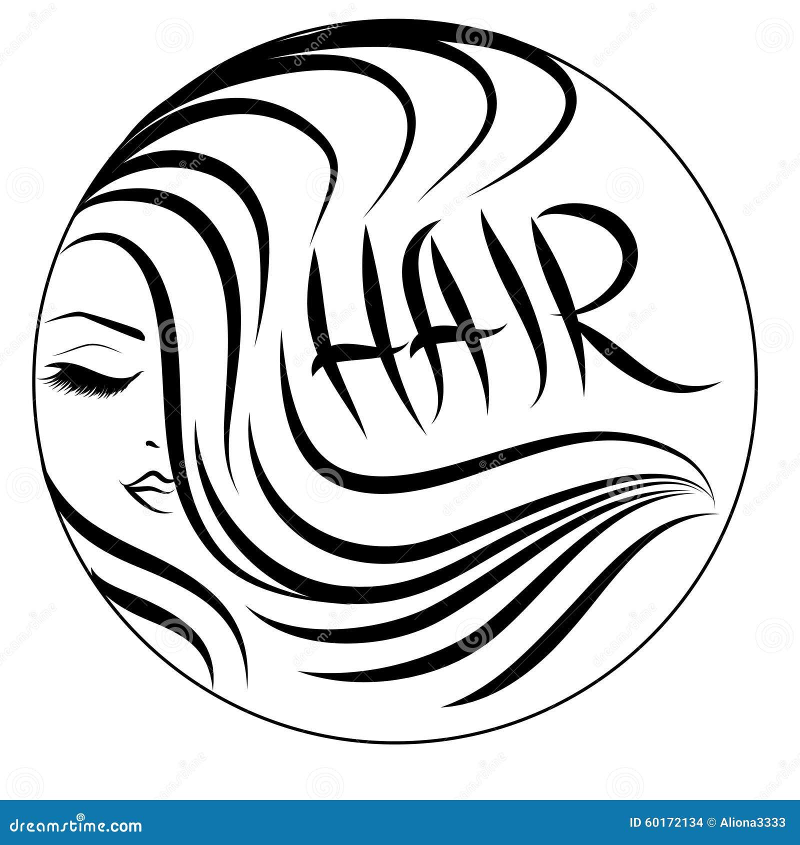 Logo onduleux de cheveux