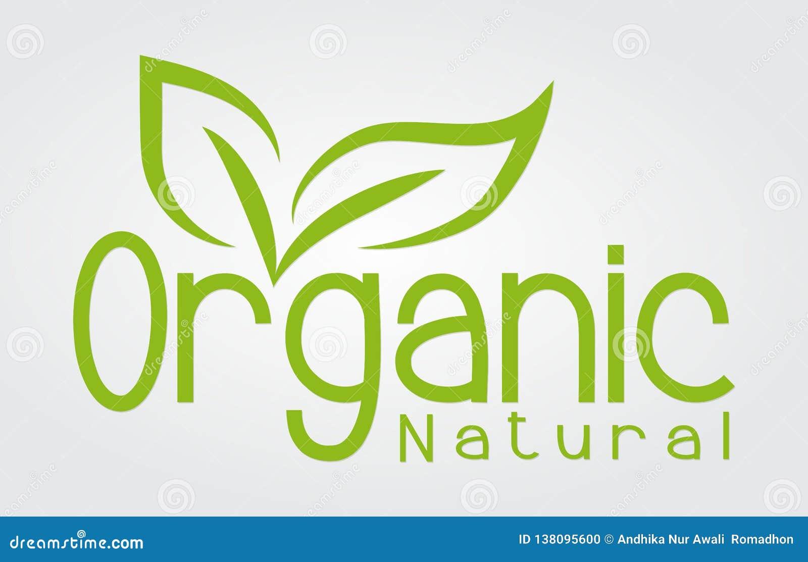 Logo organicznie naturalna biznesowa firma