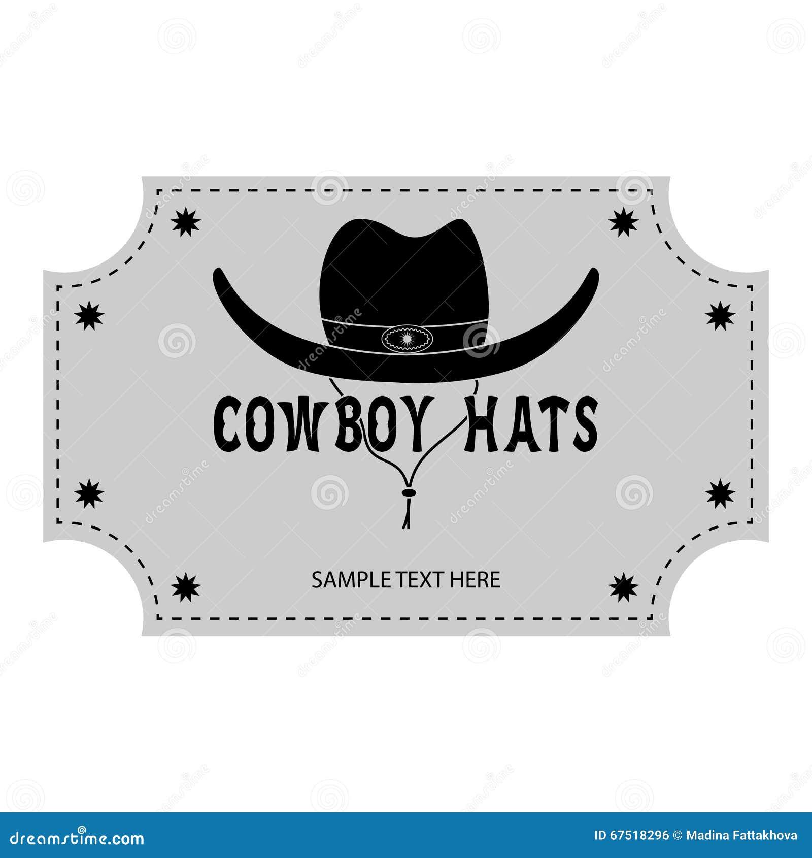 Style classique prix imbattable nouvelle arrivée Logo Ou Bannière Des Chapeaux De Cowboy Illustration de ...