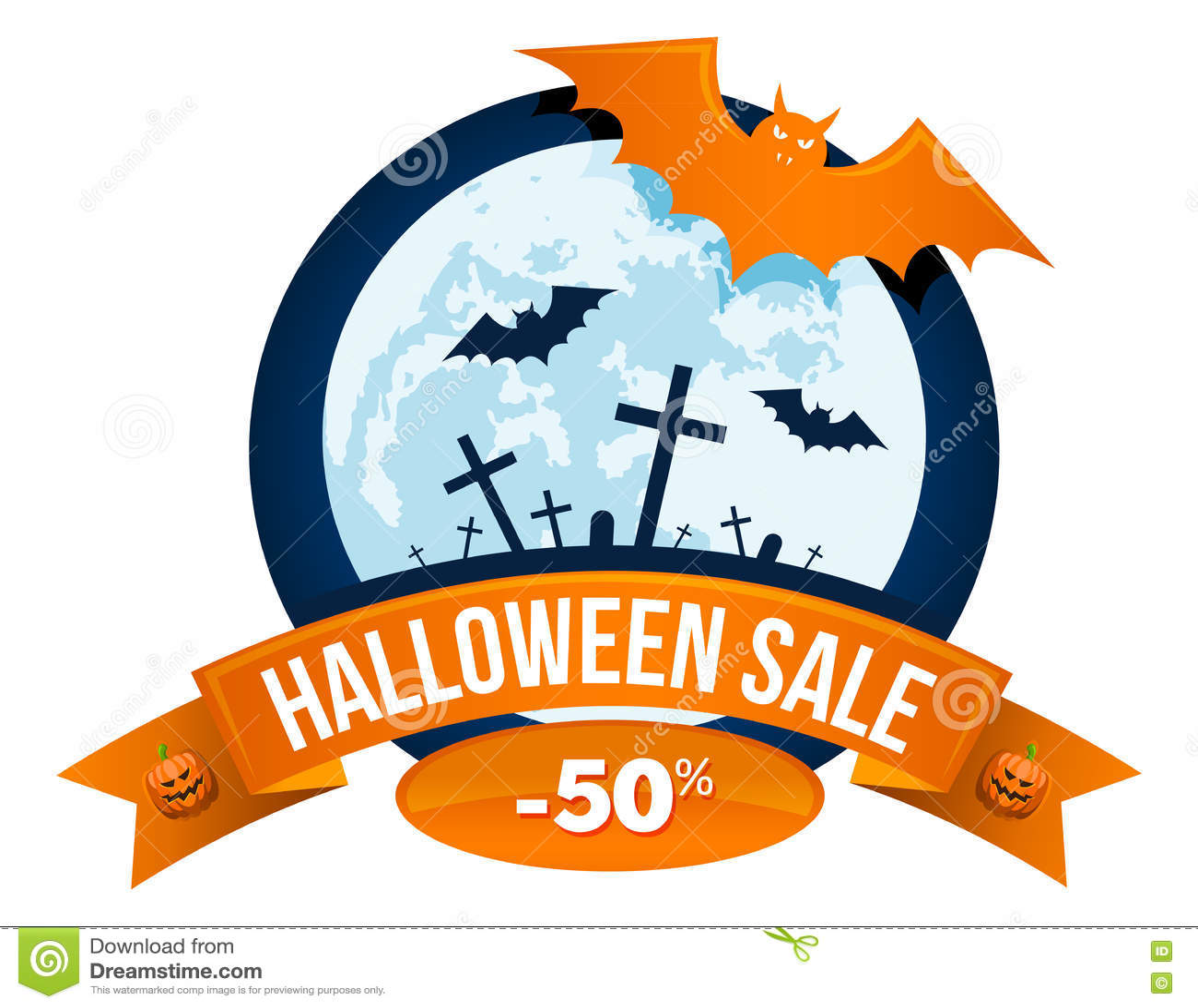 Logo ou label de vente de Halloween