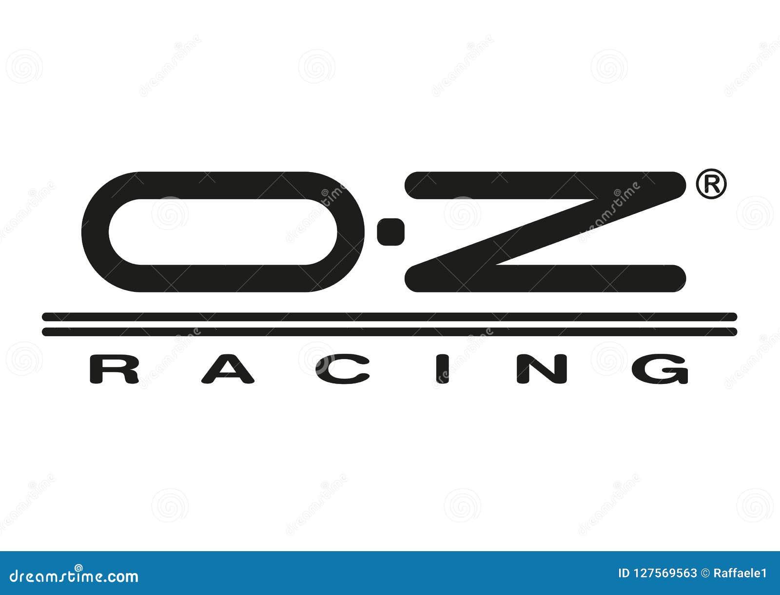 Logo oz racing tuning racing car color vector format aviable ai