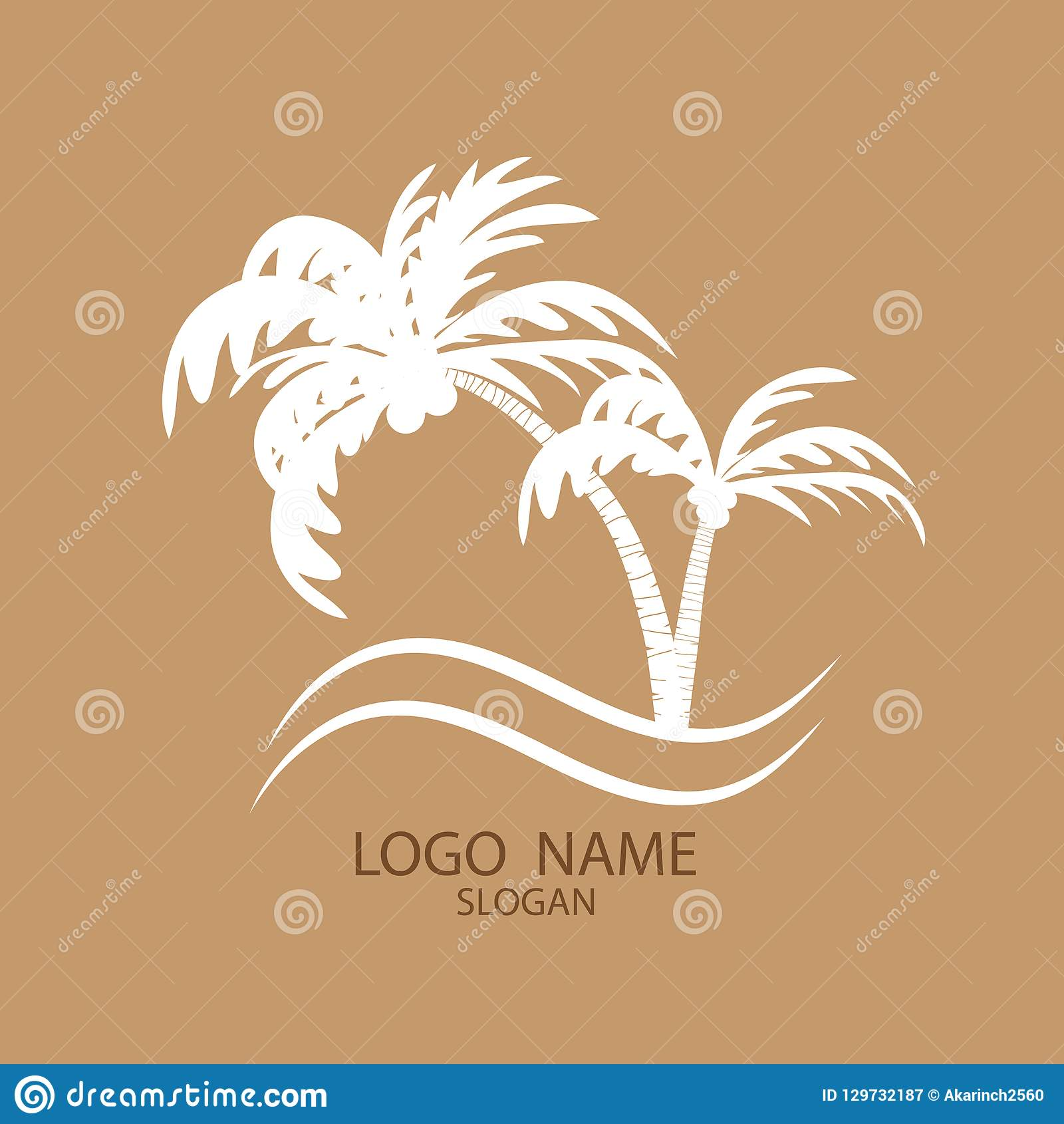 Logo of palm and coconut trees.
