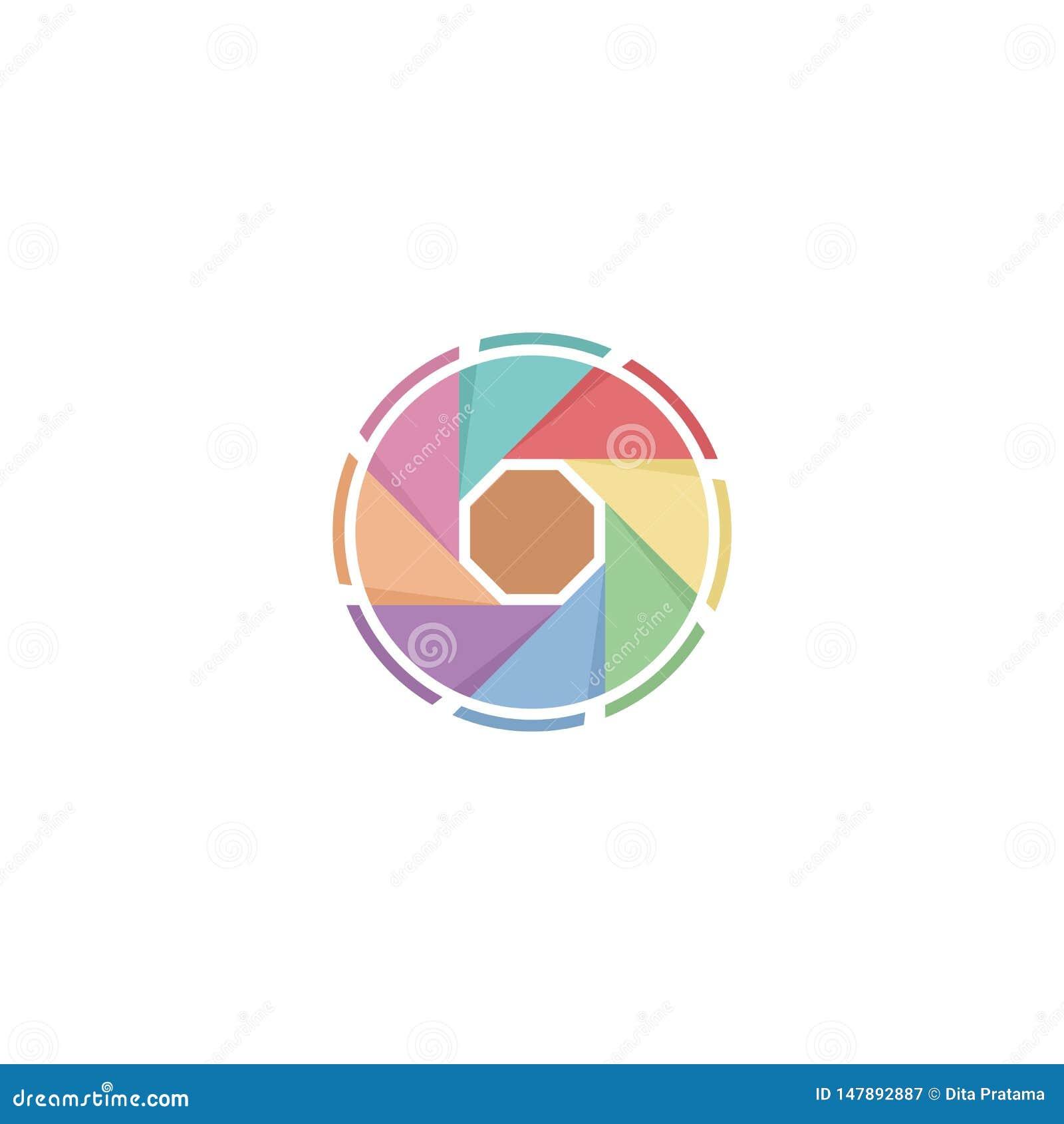 Logo pastello dell otturatore della foto