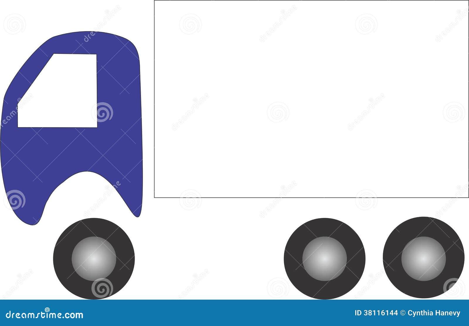 Logo piano semplice del camion di progettazione con stanza for Semplice creatore di piano gratuito