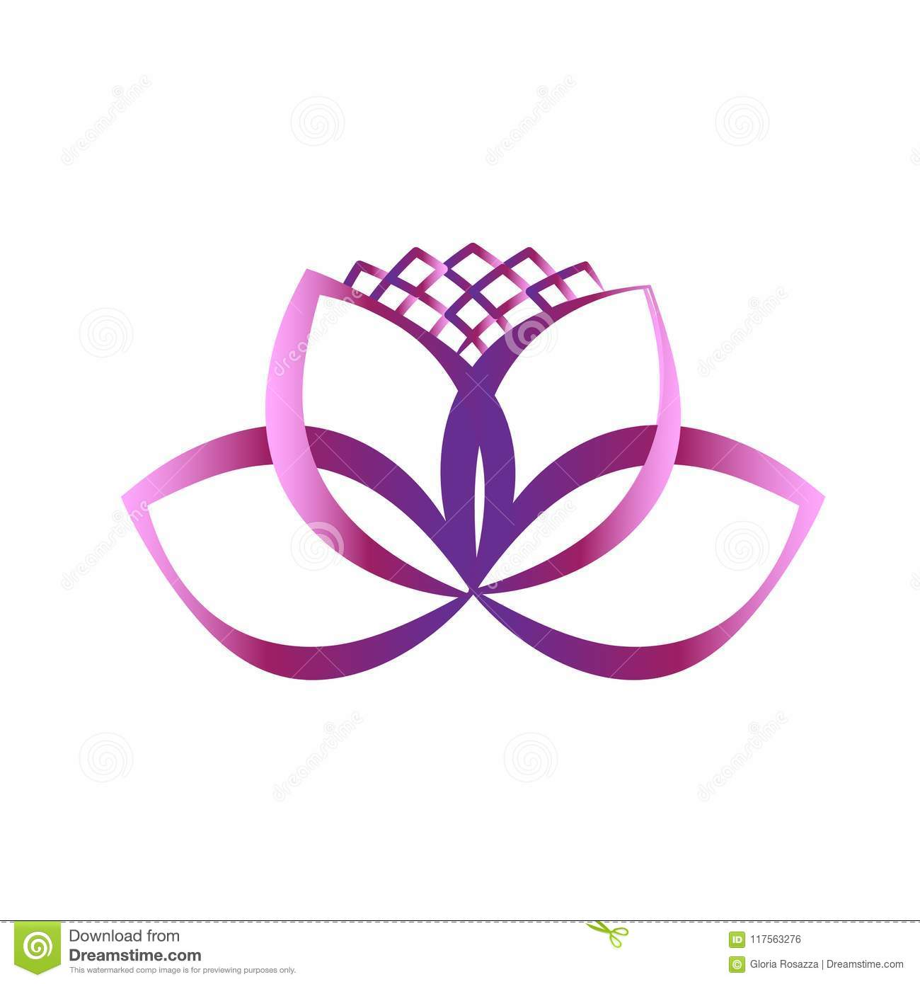Logo pink lotus flower spa symbol yoga vector image illustration logo pink lotus flower symbol of yoga vector illustration design concept of peace harmony business unity partnerswedding meditation yoga symbol icon izmirmasajfo