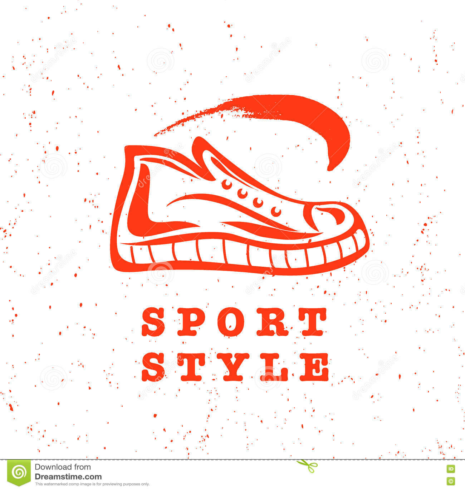 Logo plat de marque de marque de chaussure de sport de vecteur download logo plat de marque de marque de chaussure de sport de vecteur illustration de vecteur altavistaventures Gallery
