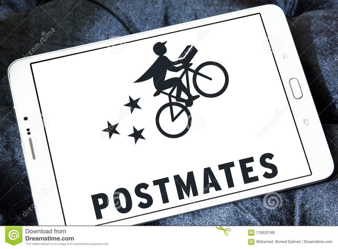 Postmates Goods Delivery Company Logo Editorial Stock Image