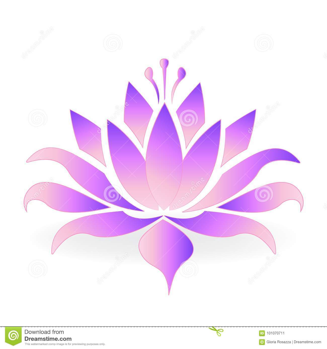 Logo Pourpre De Fleur De Lotus Illustration De Vecteur