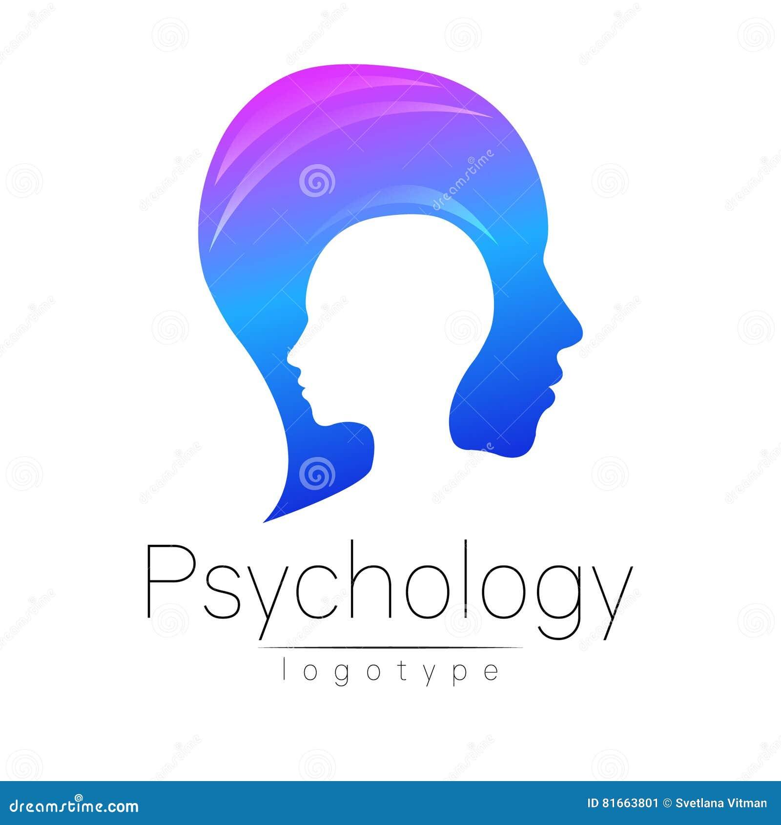 Logo principal moderne de la psychologie Humain de profil Type créateur