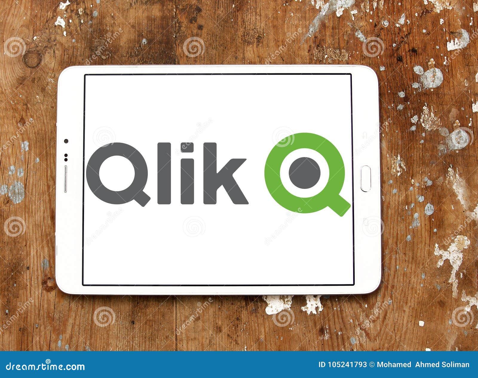 Qlik Software company logo editorial stock photo  Image of