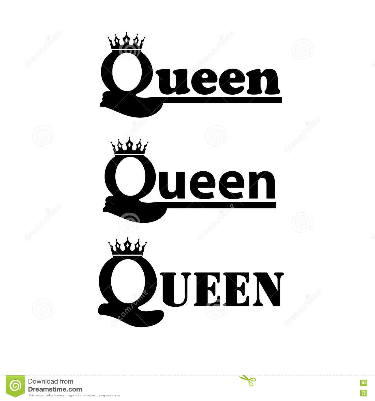 Logo Queen With Royal Crown Stock Vector Illustration Of Logotype
