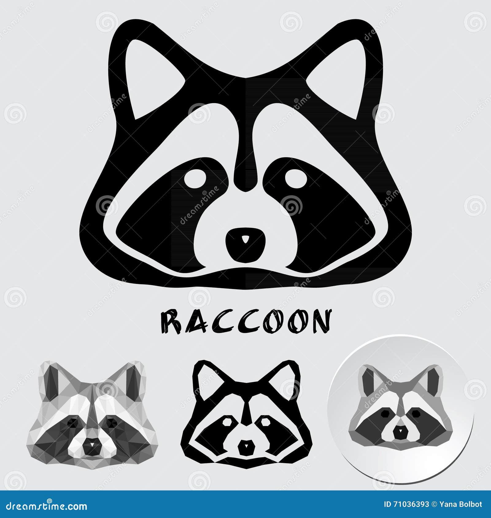 Logo of a raccoon face stock vector. Image of cute, icon ... Raccoon Face Clip Art