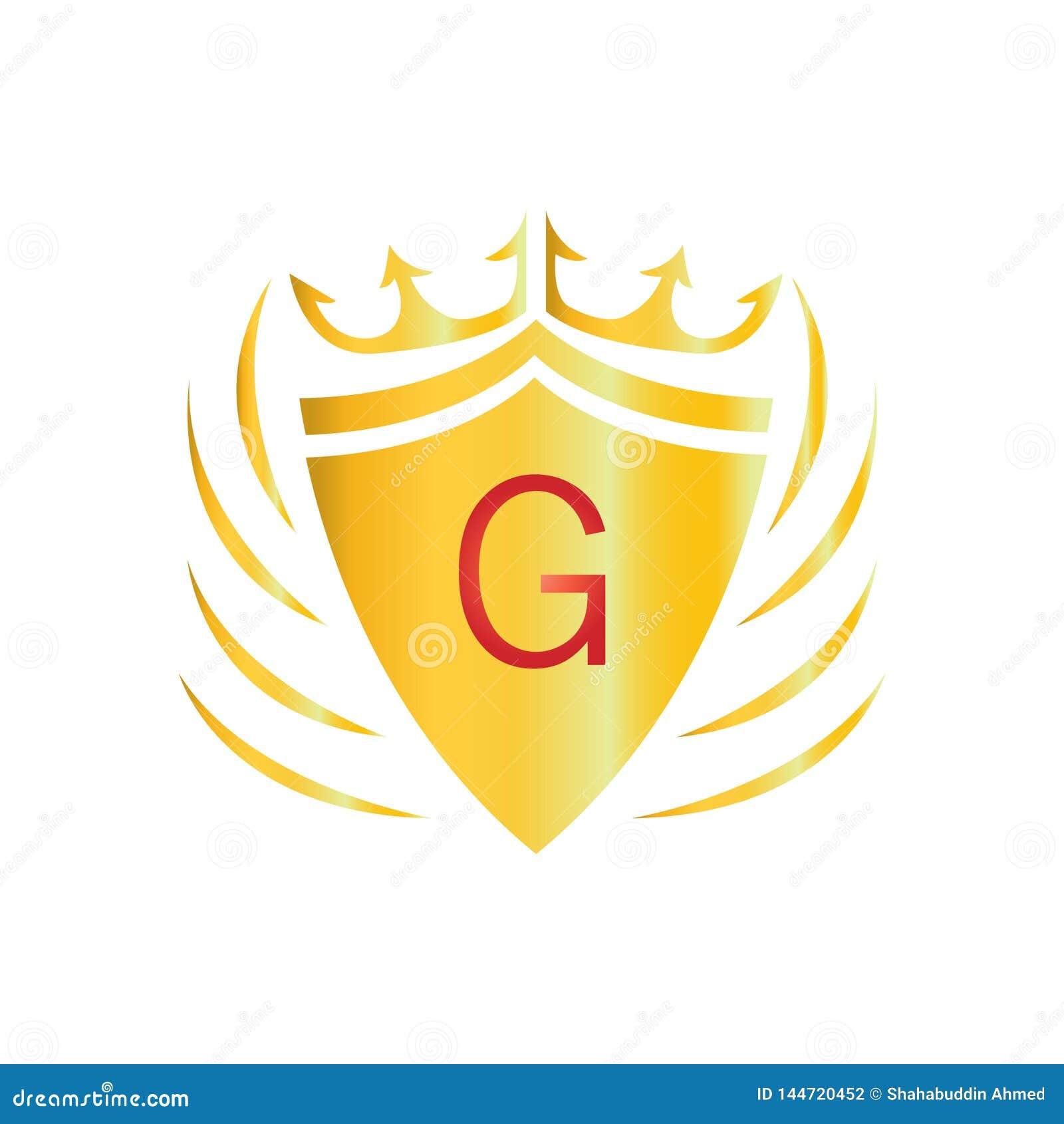 Logo reale della corona Logo di G della lettera
