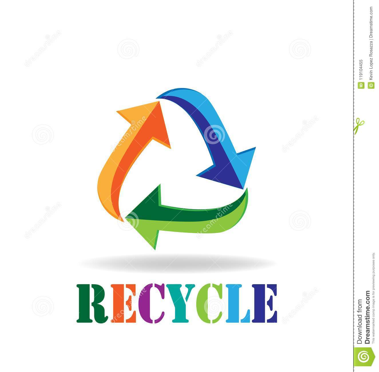 Logo Recycle Arrows Business Card Symbol Of Reduce Reuse Recycle
