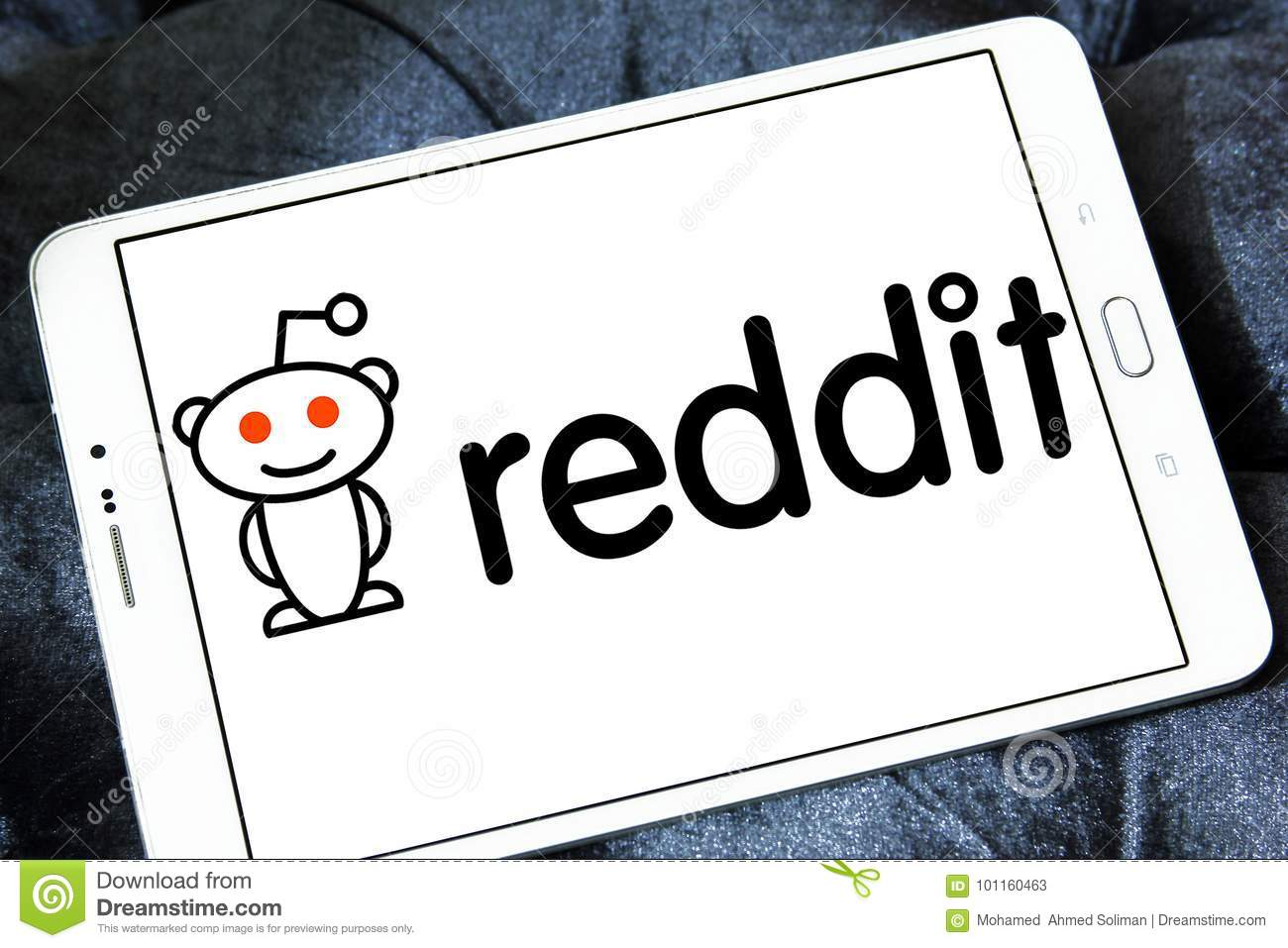 Reddit website logo editorial stock photo  Image of rating - 101160463
