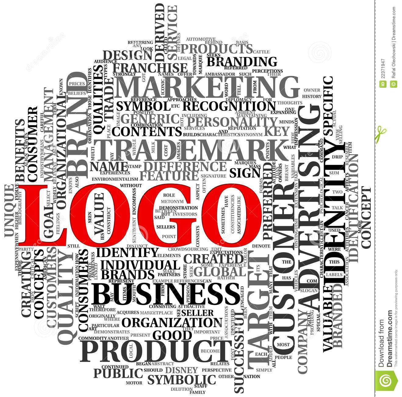 Logo Related Words In Tag Cloud Royalty Free Stock Photography Image 22371947