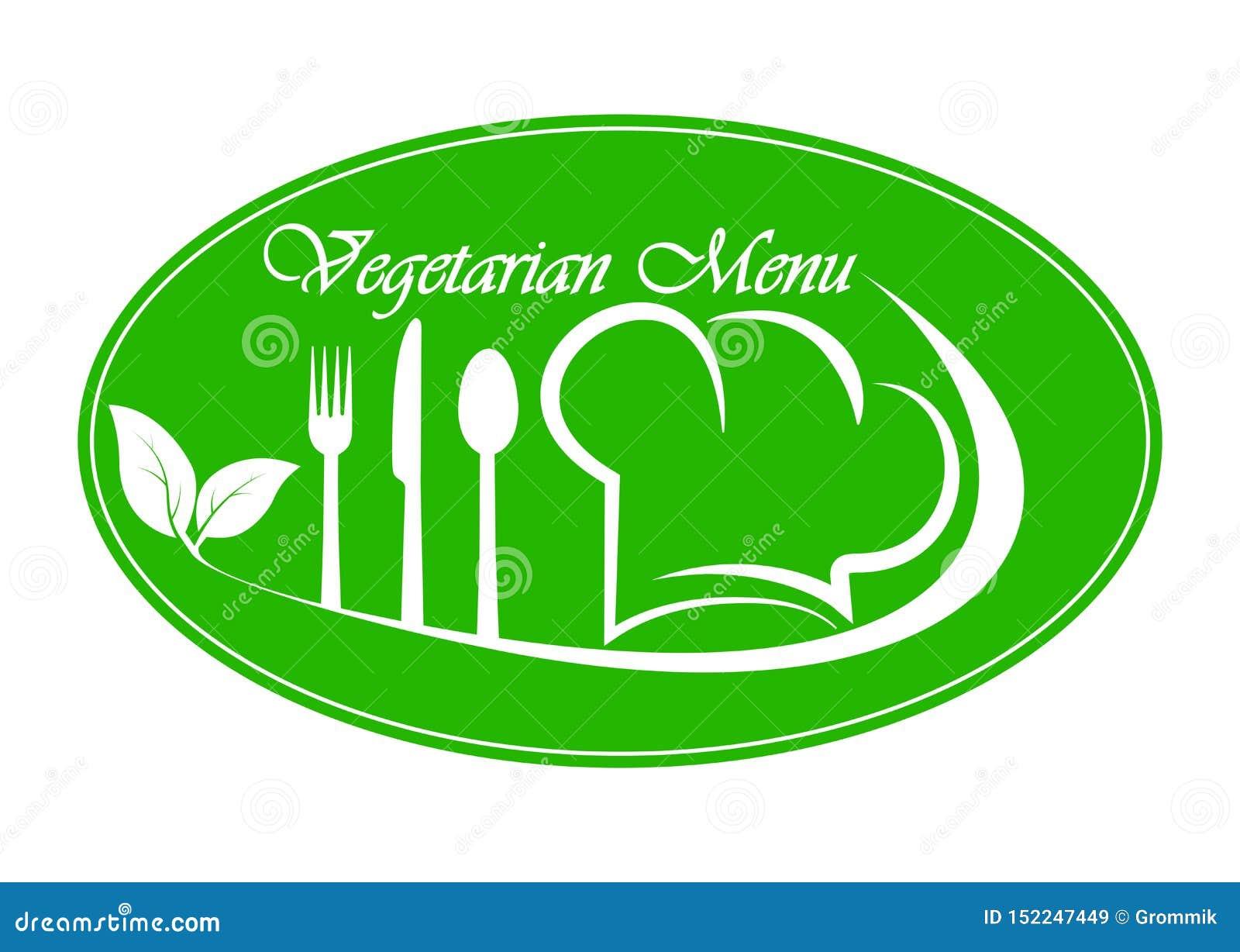 Logo for restaurant, catering or gastro service Vegetarian menu design