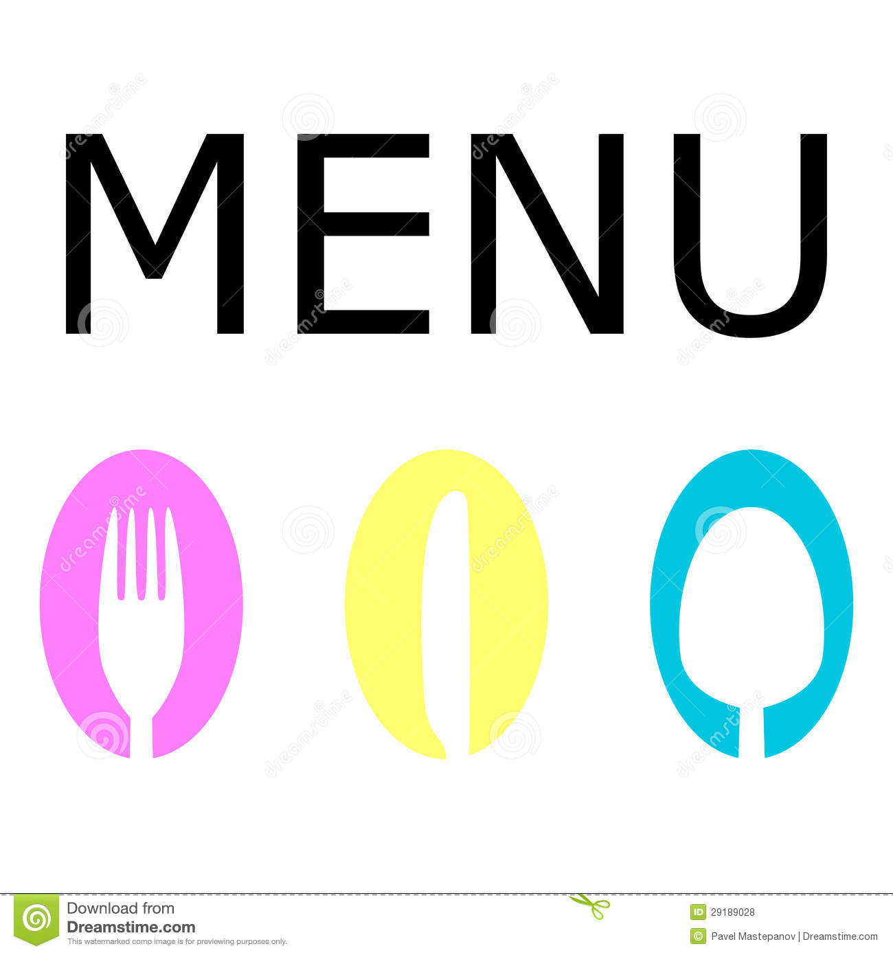 Logo For The Restaurant Menu Royalty Free Stock Photos