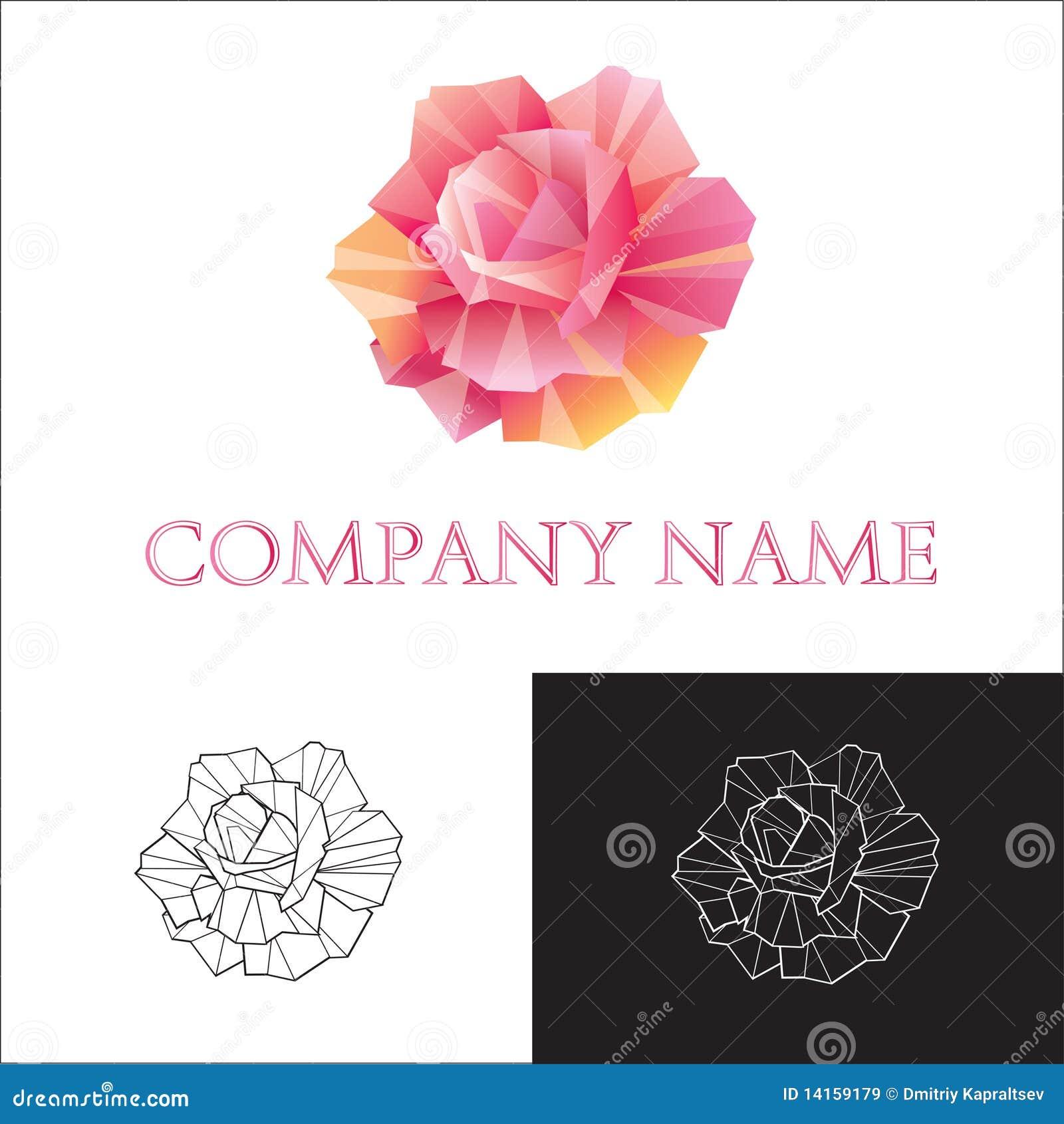 Logo Rose Royalty Free Stock Images Image 14159179