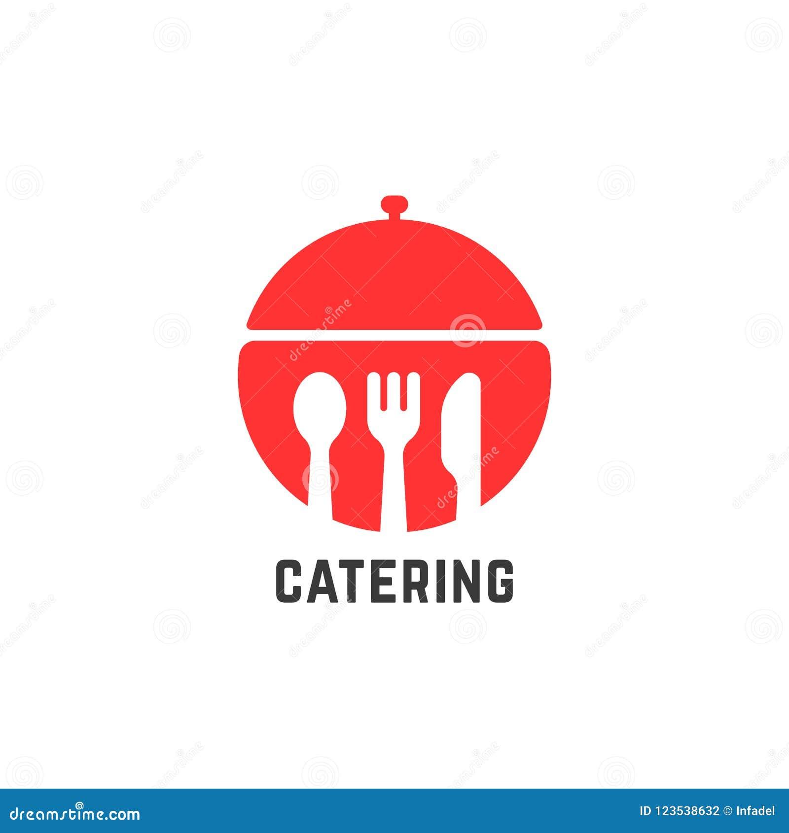 Logo rosso di servizio di approvvigionamento isolato su bianco