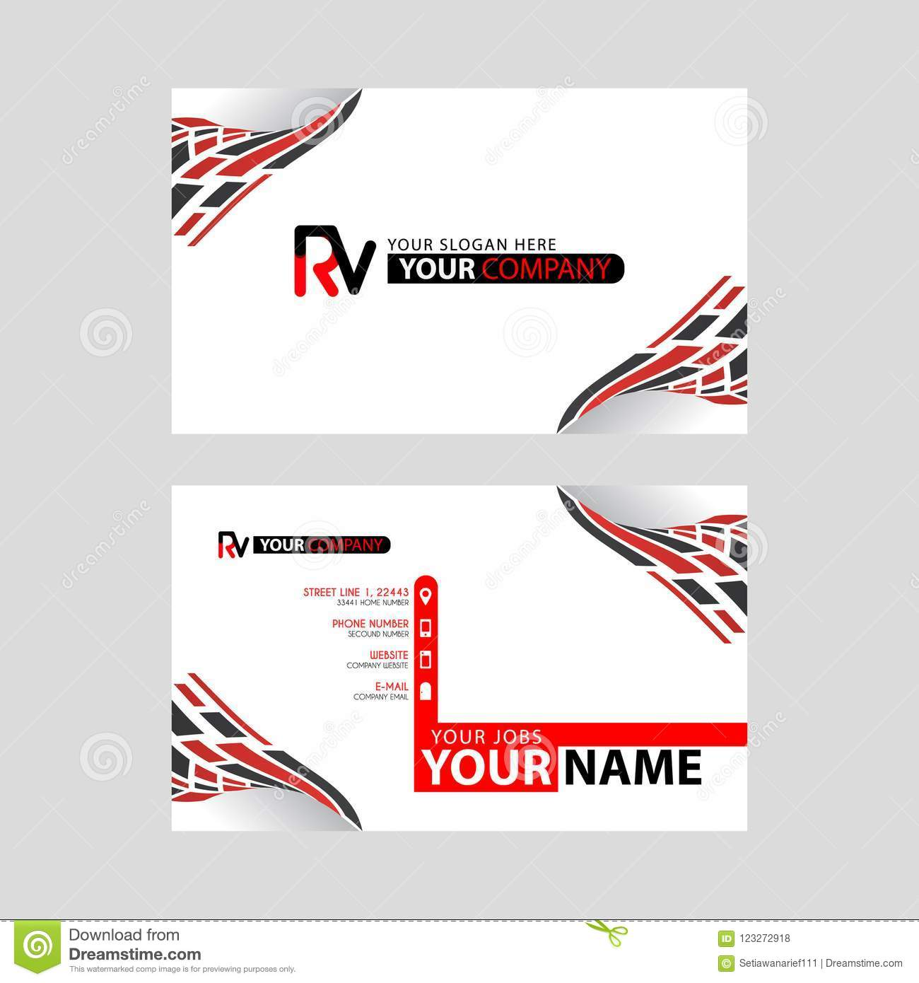 Logo rv design with a black and red business card with horizontal download logo rv design with a black and red business card with horizontal and modern design colourmoves