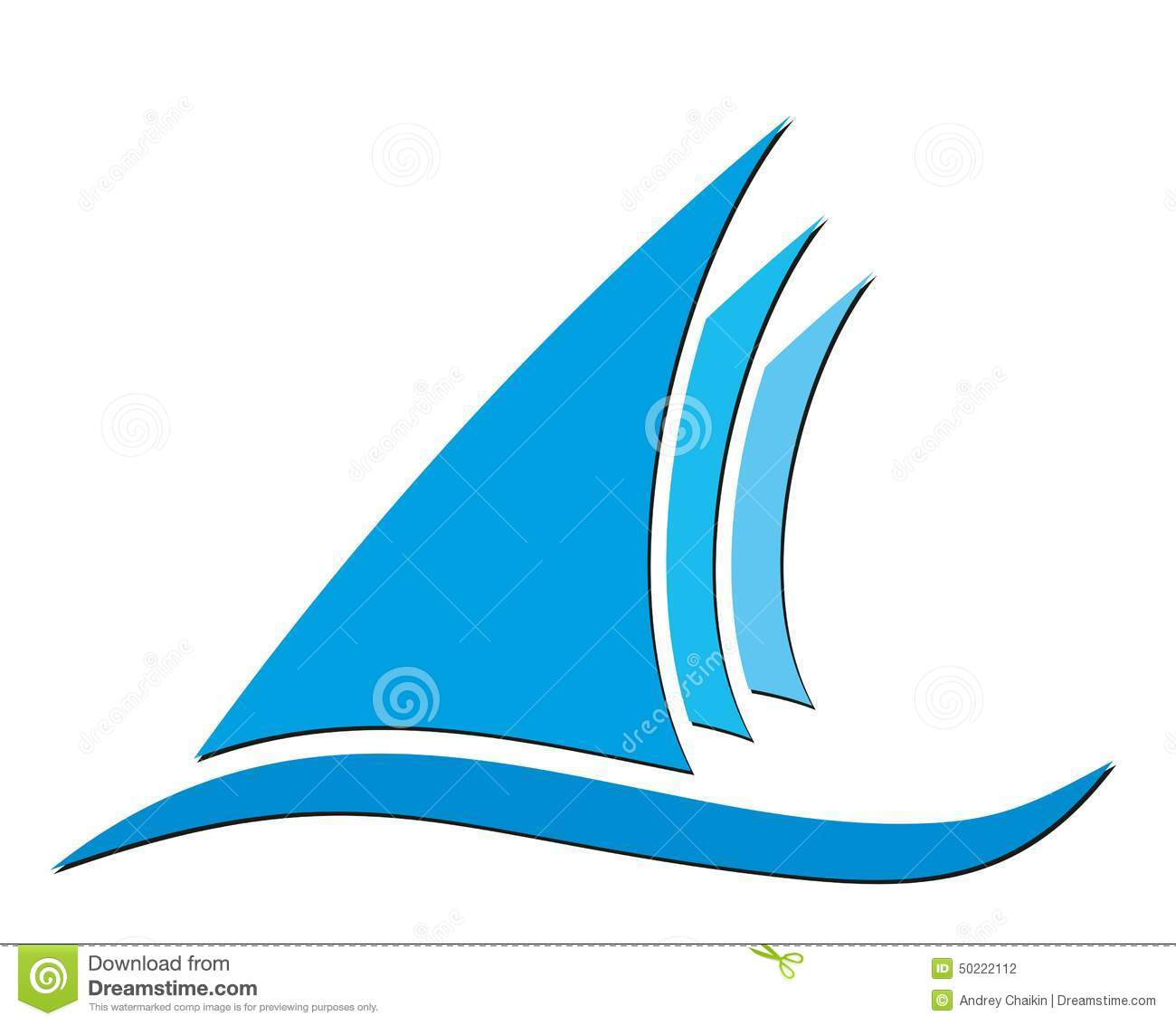 sailing vessel logo stock vector image 50222112