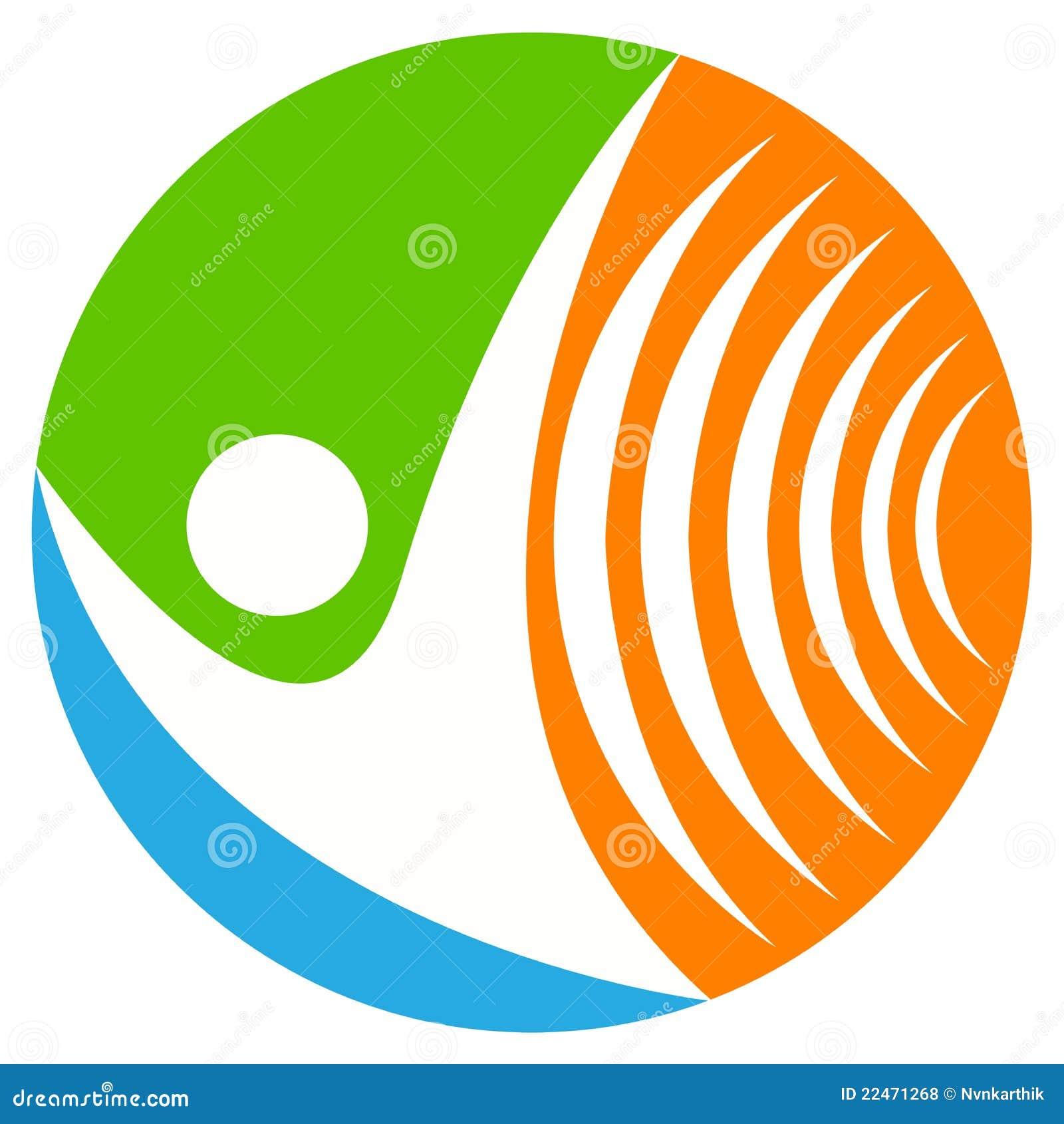 Logo sans fil de transmission