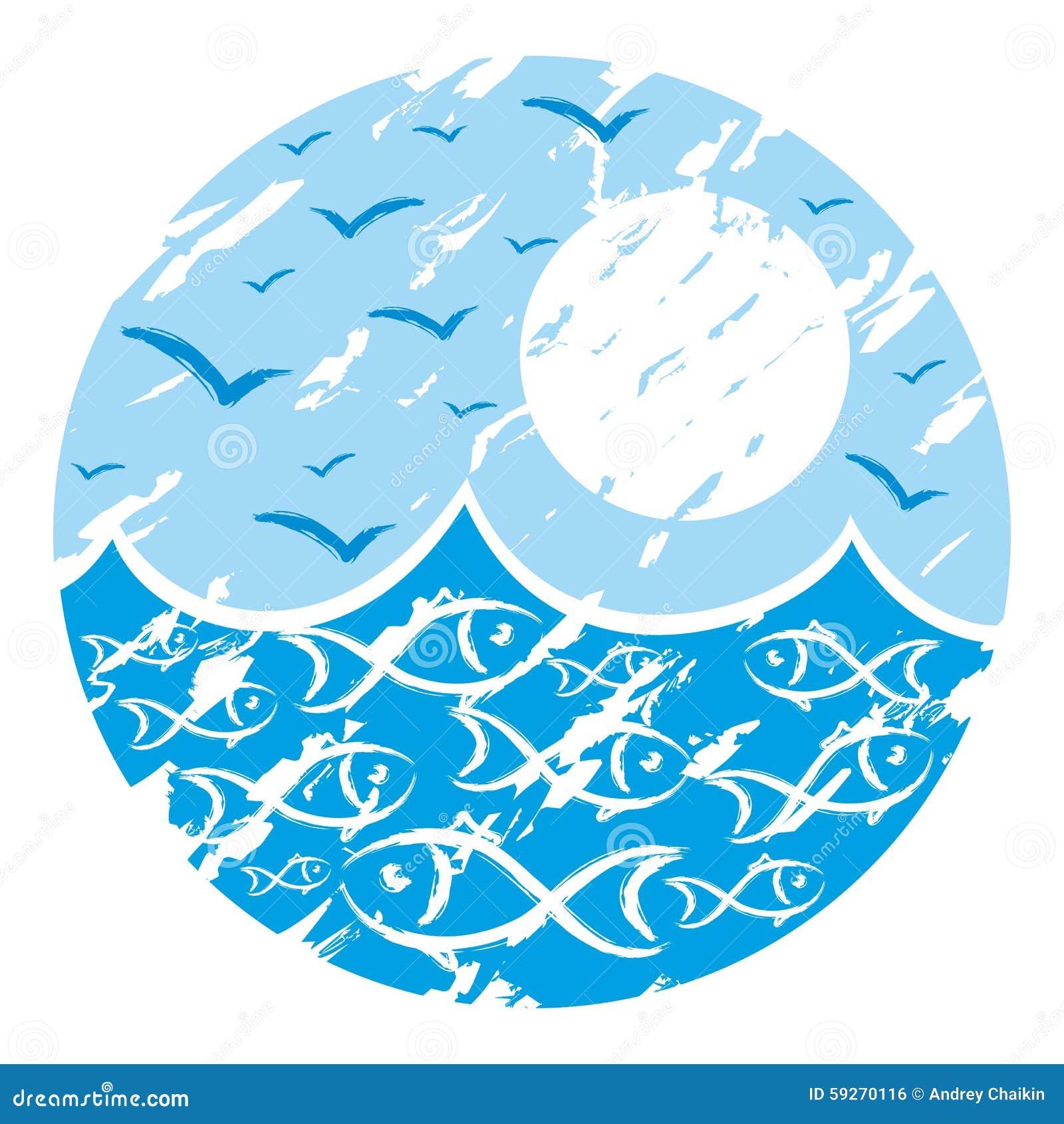 Logo Sea. Stock Vector - Image: 59270116