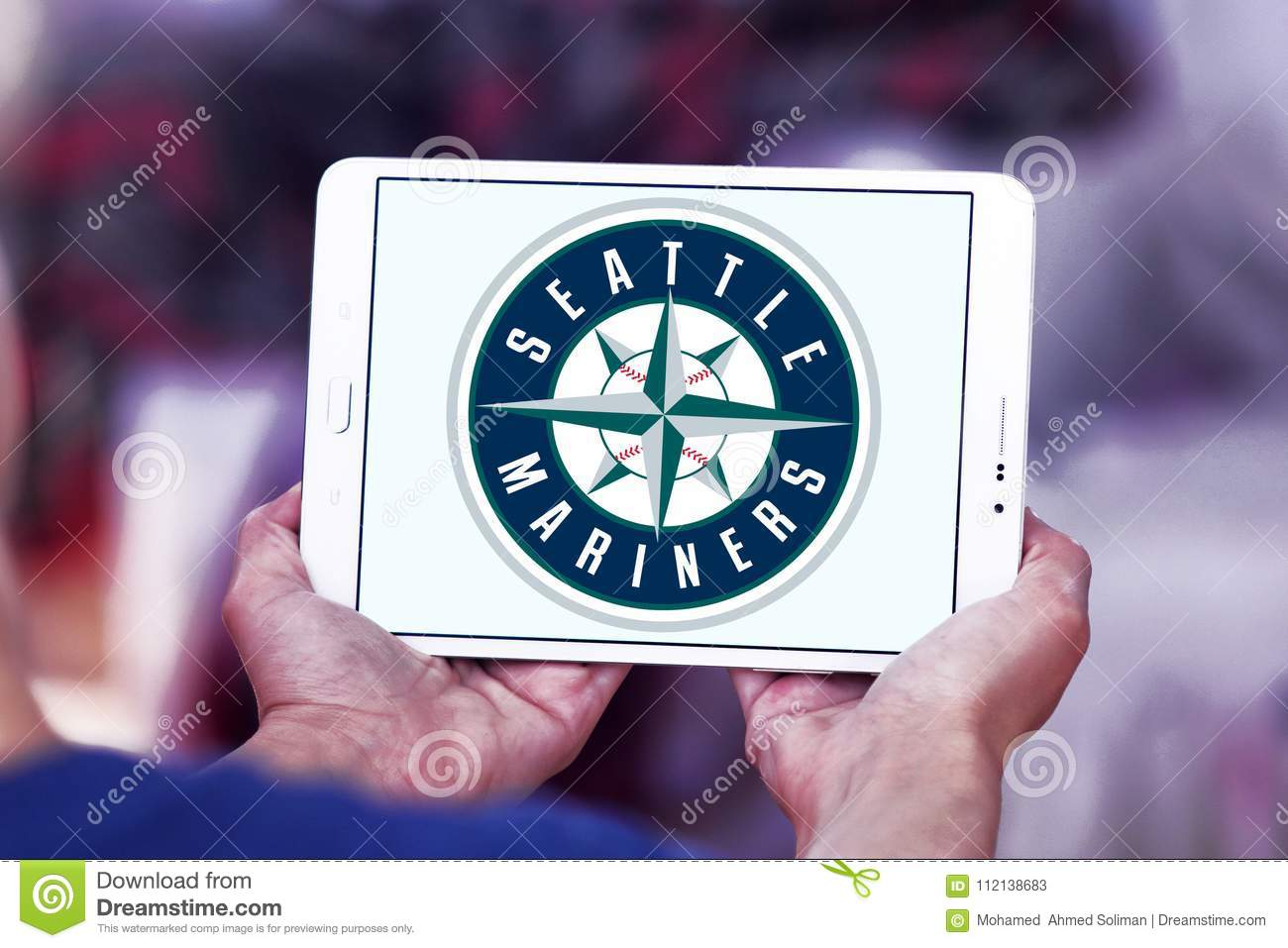 Seattle Mariners Baseball Club Logo Editorial Stock Photo
