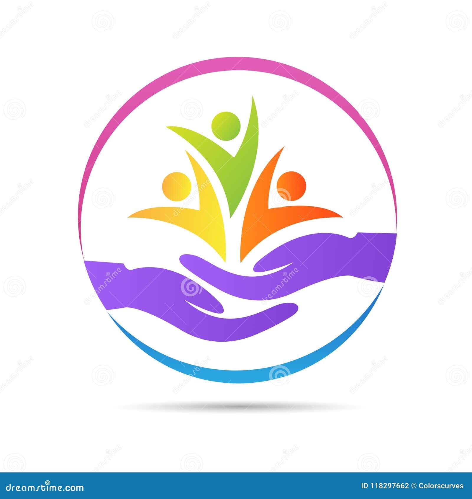 Logo senior di sanità dell orfanotrofio di carità dei bambini della donna di benessere della gente