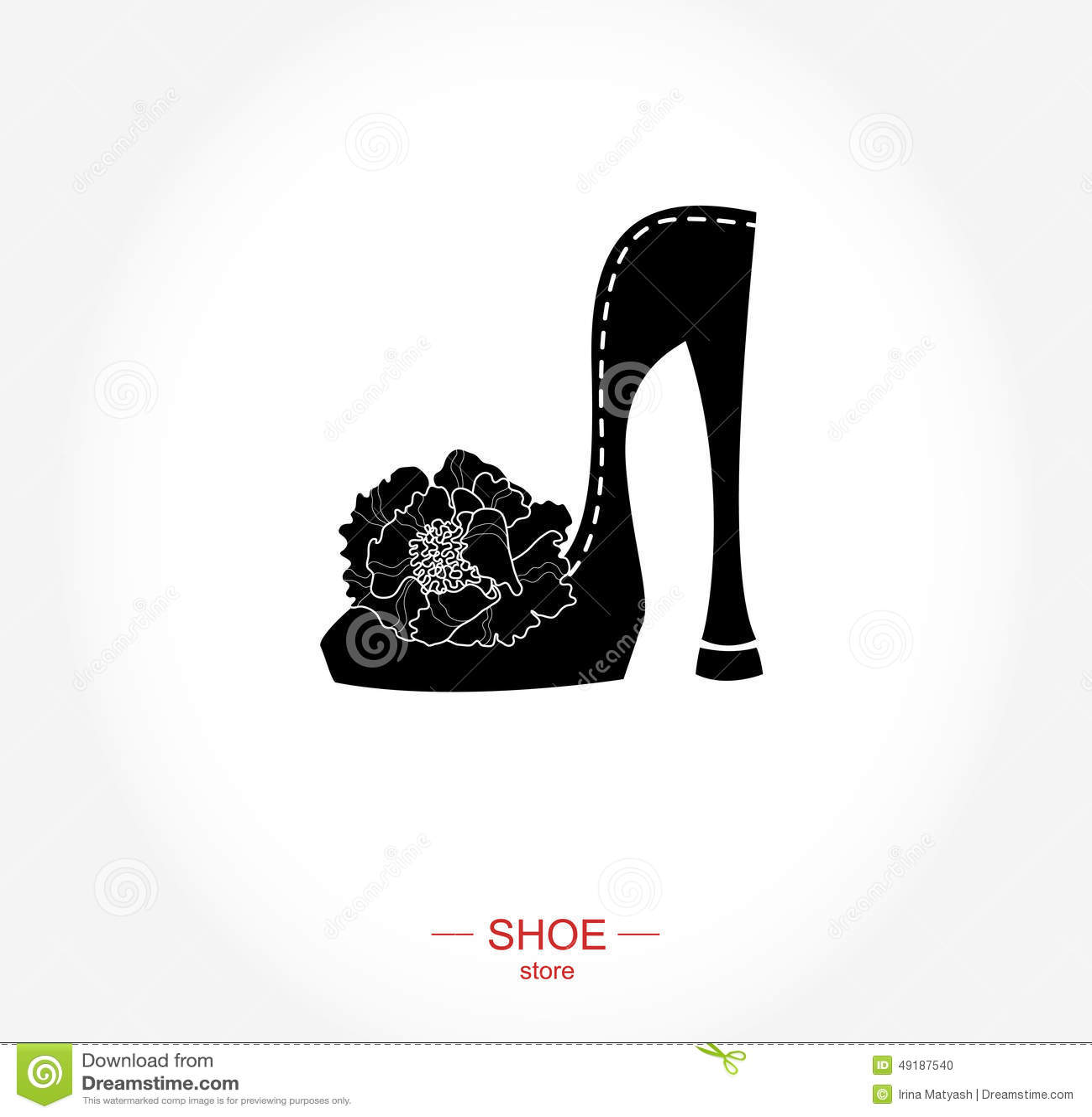 Stock vector logo shoe store shop fashion collection boutique