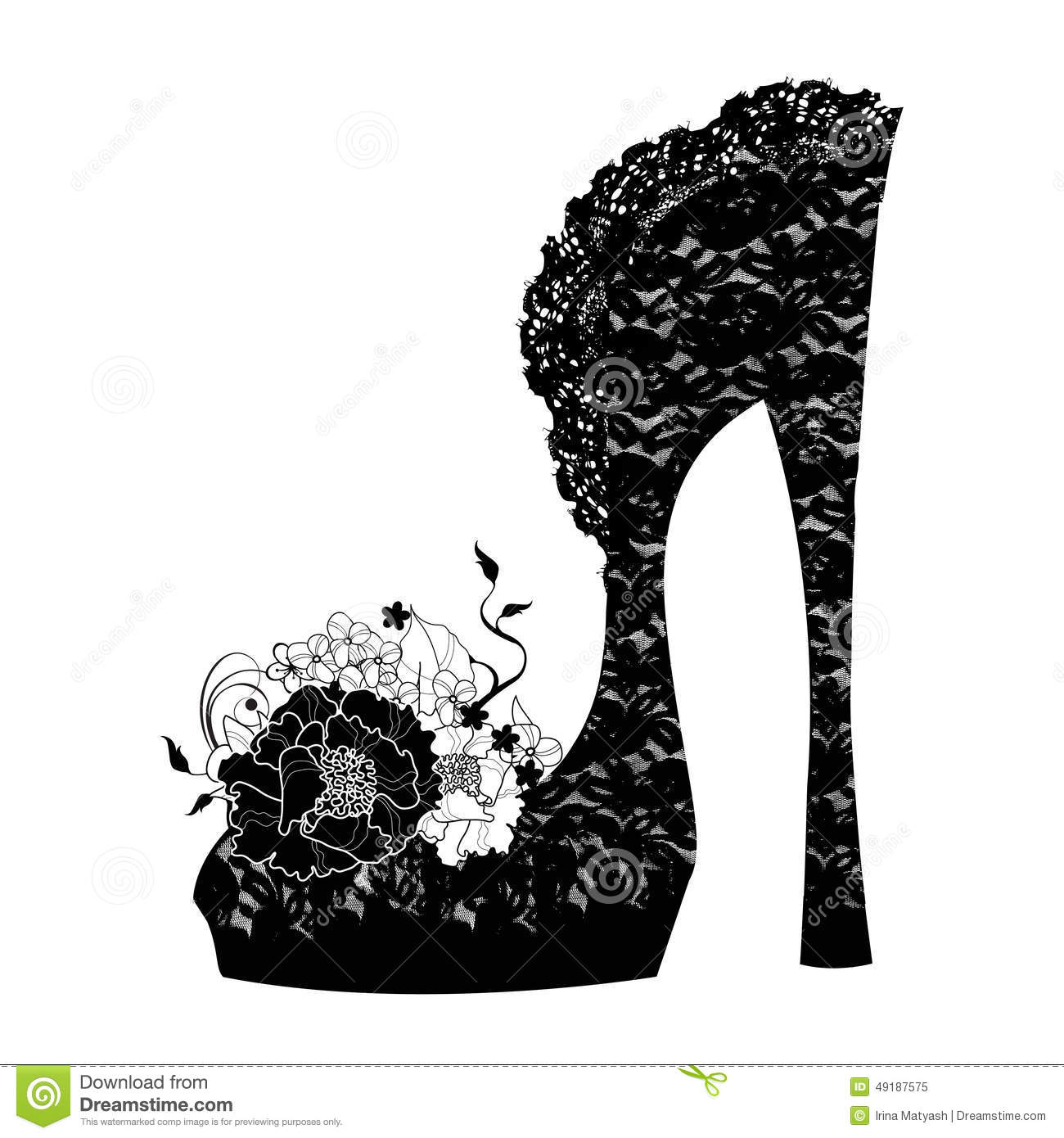 Logo Shoe Store Shop Fashion Collection Stock Vector Image 49187575