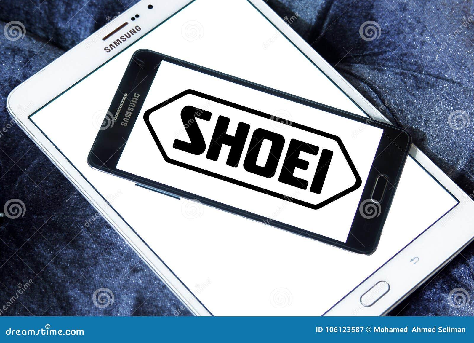 Shoei helmet company logo editorial photography  Image of